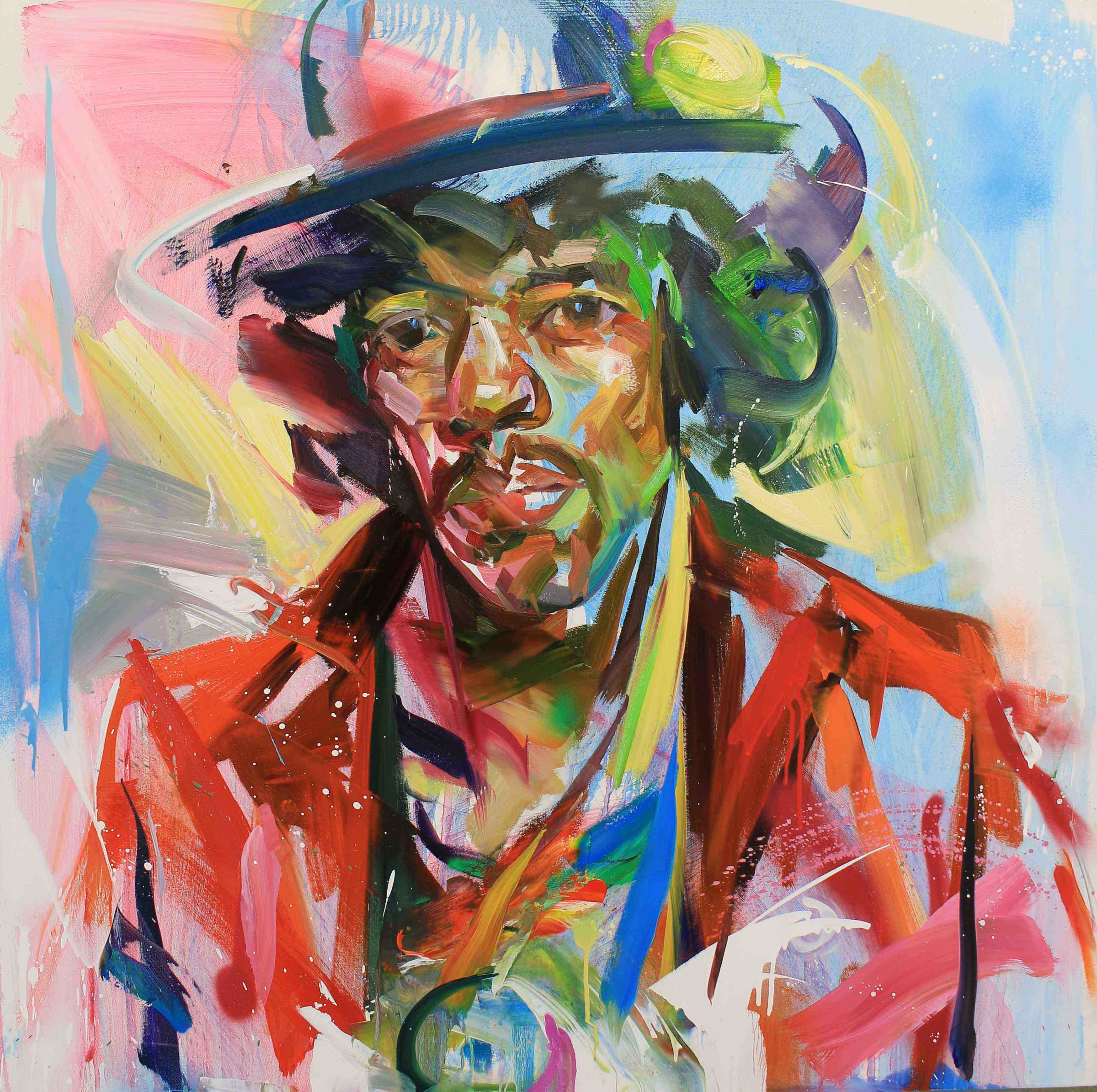 "<span class=""link fancybox-details-link""><a href=""/artists/188-paul-wright/works/2824-paul-wright-jimi-hendrix/"">View Detail Page</a></span><div class=""artist""><strong>Paul Wright</strong></div> <div class=""title""><em>Jimi Hendrix</em></div> <div class=""medium"">Oil on Linen</div> <div class=""dimensions"">110 x 110cm </div><div class=""price"">£4,375.00</div><div class=""copyright_line"">Copyright The Artist</div>"
