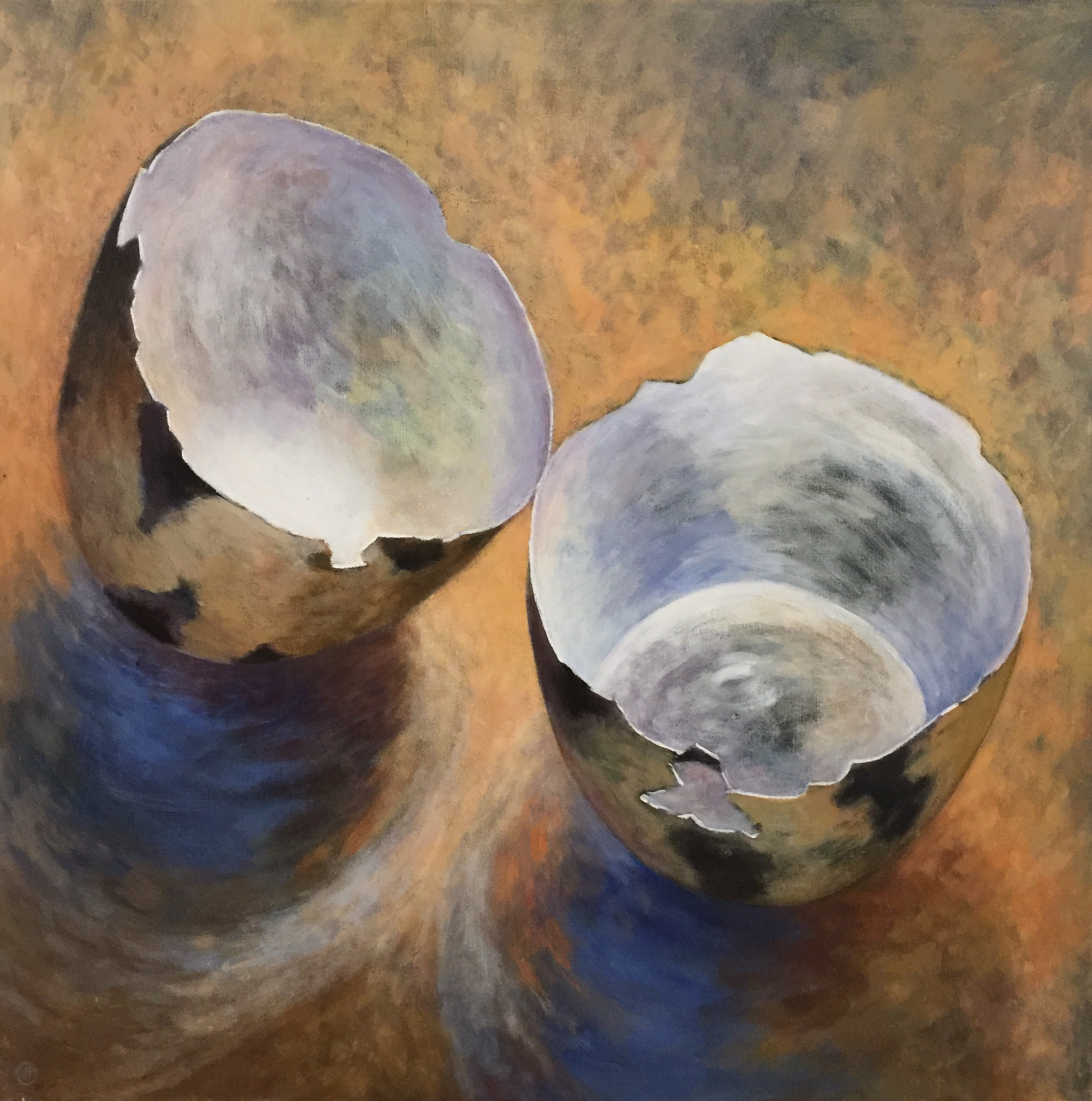 "<span class=""link fancybox-details-link""><a href=""/artists/34-joyce-pinch/works/1633-joyce-pinch-broken-quail-egg/"">View Detail Page</a></span><div class=""artist""><strong>Joyce Pinch</strong></div> <div class=""title""><em>Broken Quail Egg</em></div> <div class=""medium"">Acrylic on Canvas</div> <div class=""dimensions"">76 x 76 cm</div><div class=""copyright_line"">Copyright The Artist</div>"