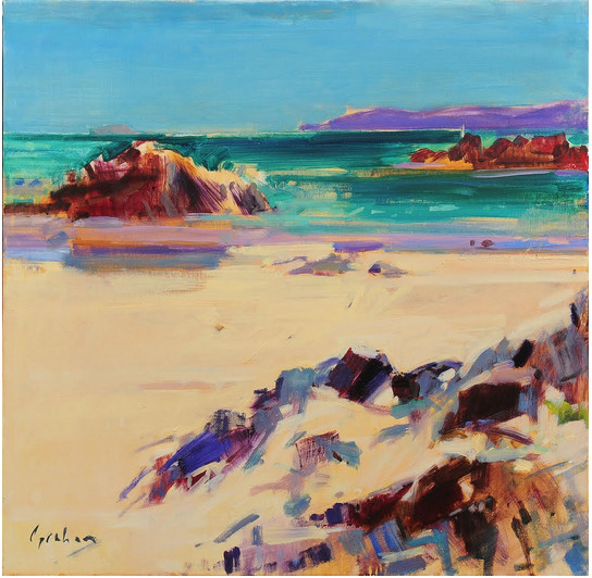 "<span class=""link fancybox-details-link""><a href=""/artists/31-peter-graham-roi/works/2610-peter-graham-roi-iona-white-sands/"">View Detail Page</a></span><div class=""artist""><strong>Peter Graham ROI</strong></div> <div class=""title""><em>Iona, White Sands</em></div> <div class=""medium"">Oil on Canvas</div> <div class=""dimensions"">61 x 61 cm</div>"