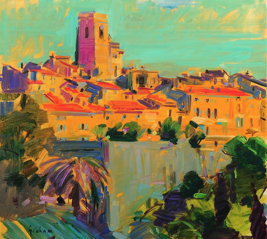 "<span class=""link fancybox-details-link""><a href=""/artists/31-peter-graham/works/2612-peter-graham-st-paul-de-vence/"">View Detail Page</a></span><div class=""artist""><strong>Peter Graham</strong></div> <div class=""title""><em>St Paul de Vence</em></div> <div class=""medium"">Oil on Canvas</div> <div class=""dimensions"">61 x 61 cm</div>"