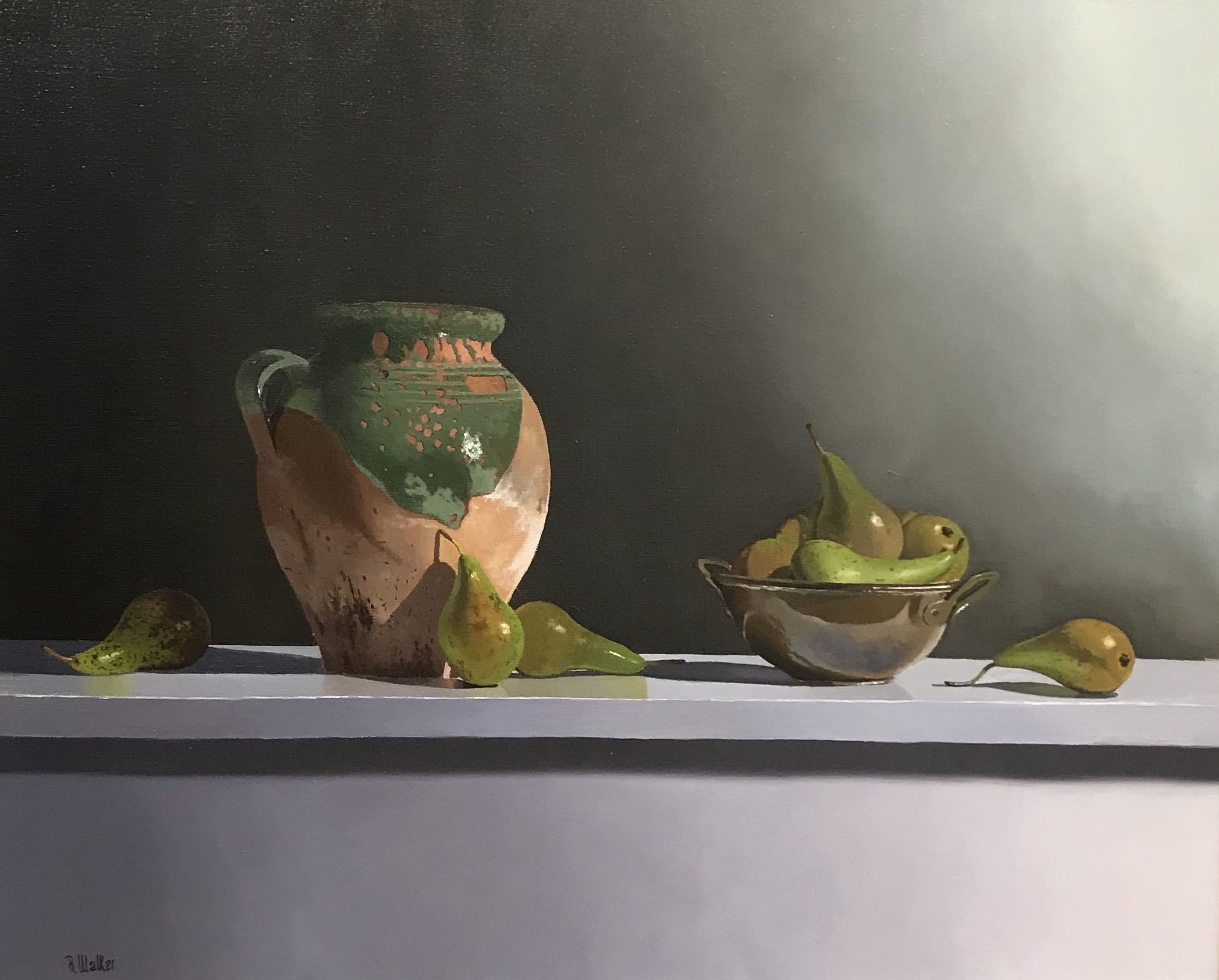 <span class=&#34;link fancybox-details-link&#34;><a href=&#34;/artists/67-robert-walker/works/2780-robert-walker-terracotta-pot-with-pears/&#34;>View Detail Page</a></span><div class=&#34;artist&#34;><strong>Robert Walker</strong></div> <div class=&#34;title&#34;><em>Terracotta Pot with Pears</em></div> <div class=&#34;medium&#34;>Oil on Linen</div> <div class=&#34;dimensions&#34;>66 x 81 cm </div><div class=&#34;price&#34;>£1,900.00</div><div class=&#34;copyright_line&#34;>Copyright The Artist</div>
