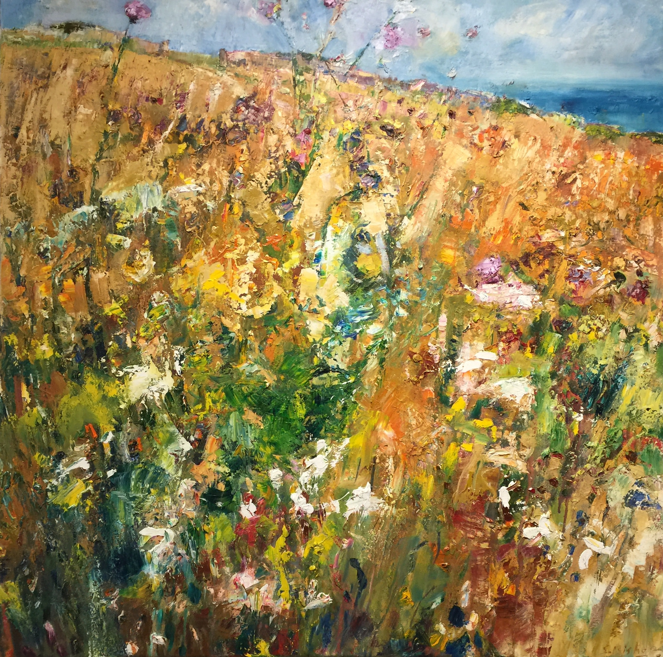 "<span class=""link fancybox-details-link""><a href=""/artists/49-stephen-bishop/works/2427-stephen-bishop-summer-scorched-field/"">View Detail Page</a></span><div class=""artist""><strong>Stephen Bishop</strong></div> <div class=""title""><em>Summer Scorched Field</em></div> <div class=""medium"">Oil on Canvas</div> <div class=""dimensions"">101 x 101 cm </div><div class=""copyright_line"">Copyright The Artist</div>"