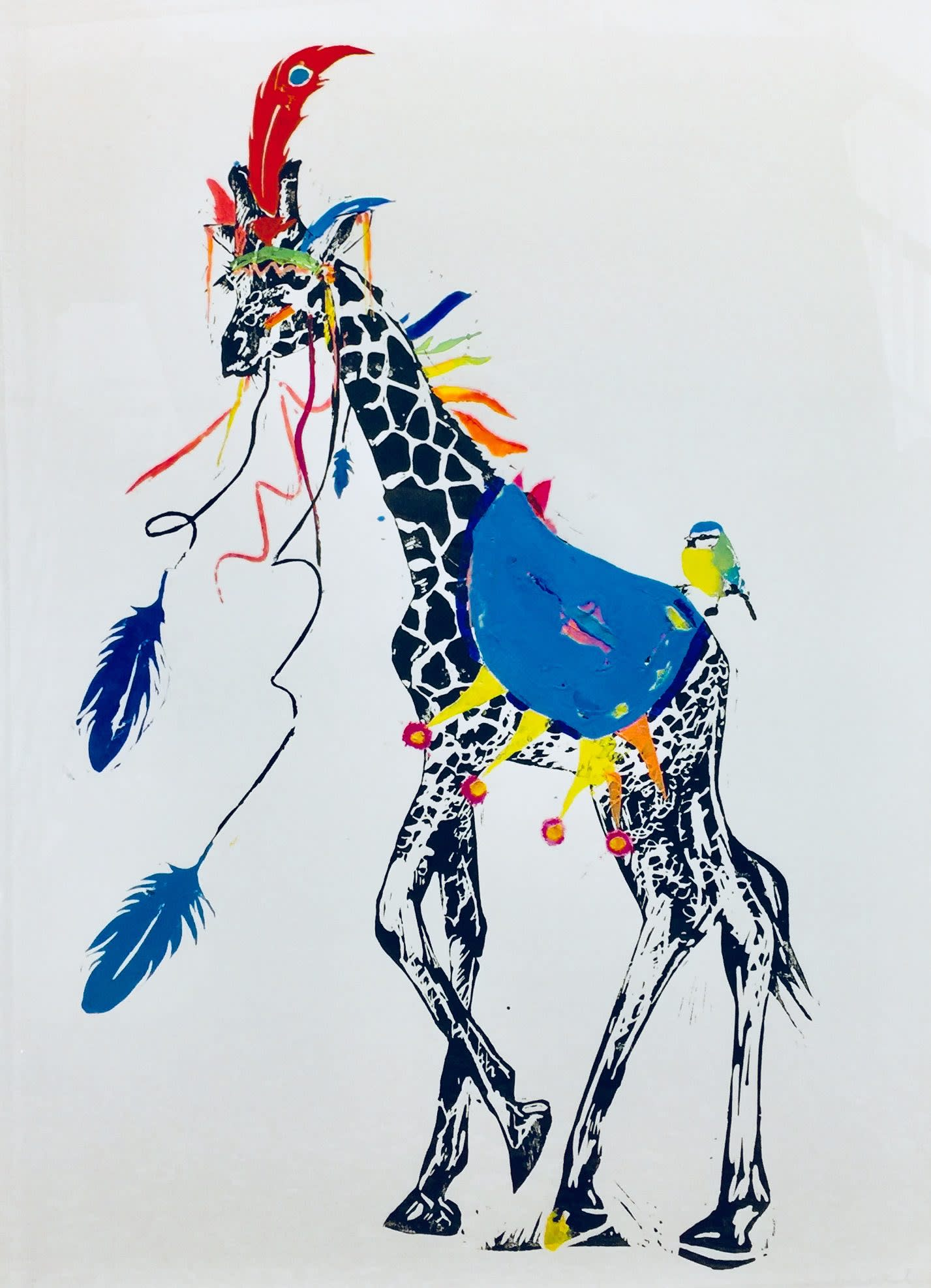 <span class=&#34;link fancybox-details-link&#34;><a href=&#34;/artists/39-millie-mccallum/works/2325-millie-mccallum-giraffe-with-blue-saddle/&#34;>View Detail Page</a></span><div class=&#34;artist&#34;><strong>Millie McCallum</strong></div> <div class=&#34;title&#34;><em>Giraffe with Blue Saddle</em></div> <div class=&#34;medium&#34;>Linocut 1/1 (framed)</div> <div class=&#34;dimensions&#34;>100 x 70 cm <br /> </div><div class=&#34;copyright_line&#34;>Copyright The Artist</div>