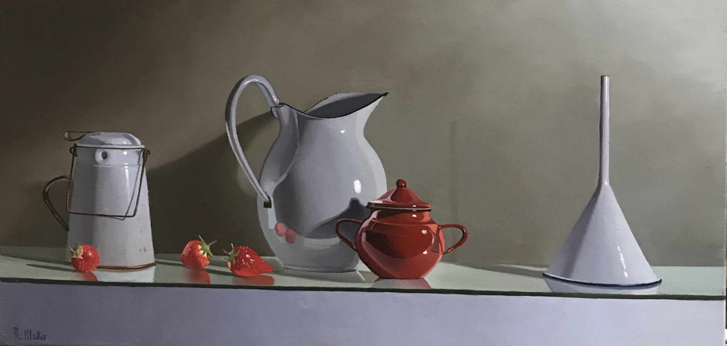 <span class=&#34;link fancybox-details-link&#34;><a href=&#34;/artists/67-robert-walker/works/658-robert-walker-strawberries-with-white-funnel/&#34;>View Detail Page</a></span><div class=&#34;artist&#34;><strong>Robert Walker</strong></div> <div class=&#34;title&#34;><em>Strawberries with White Funnel</em></div> <div class=&#34;medium&#34;>Oil on Linen </div> <div class=&#34;dimensions&#34;>34 x 64 cm</div><div class=&#34;price&#34;>£1,300.00</div><div class=&#34;copyright_line&#34;>Copyright The Artist</div>