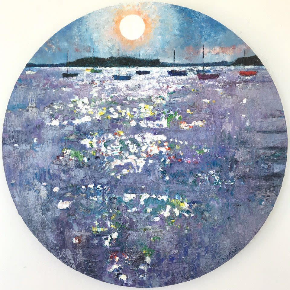 "<span class=""link fancybox-details-link""><a href=""/artists/49-stephen-bishop/works/2866-stephen-bishop-porthole-poole-harbour/"">View Detail Page</a></span><div class=""artist""><strong>Stephen Bishop</strong></div> <div class=""title""><em>Porthole - Poole Harbour</em></div> <div class=""medium"">Oil on Canvas </div> <div class=""dimensions"">80 cm dia. </div><div class=""price"">£2,500.00</div><div class=""copyright_line"">Copyright The Artist</div>"