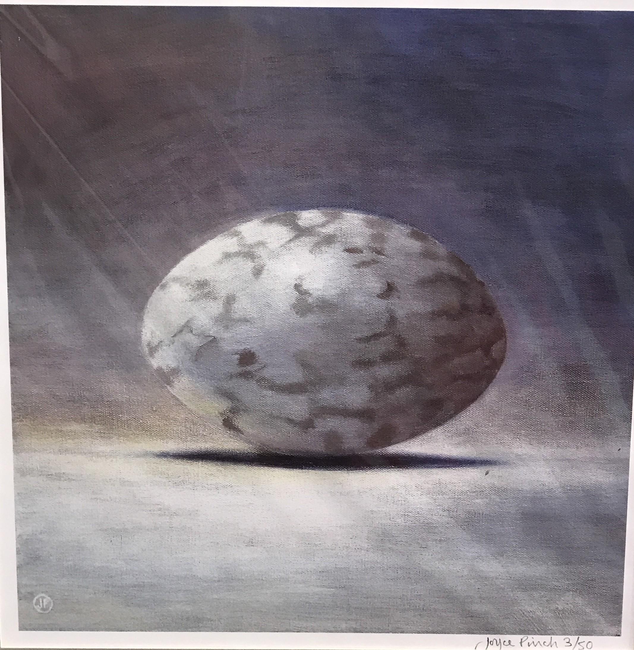 "<span class=""link fancybox-details-link""><a href=""/artists/34-joyce-pinch/works/84-joyce-pinch-nightjar-egg/"">View Detail Page</a></span><div class=""artist""><strong>Joyce Pinch</strong></div> <div class=""title""><em>Nightjar Egg</em></div> <div class=""medium"">Limited Edition Print (framed)</div> <div class=""dimensions"">26 x 26  cm</div> <div class=""edition_details"">Edition of 50</div>"