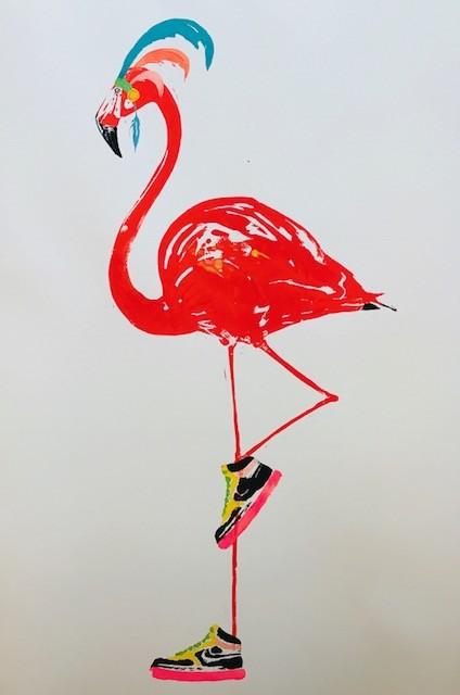 <span class=&#34;link fancybox-details-link&#34;><a href=&#34;/artists/39-millie-mccallum/works/2048-millie-mccallum-flamingo/&#34;>View Detail Page</a></span><div class=&#34;artist&#34;><strong>Millie McCallum</strong></div> <div class=&#34;title&#34;><em>Flamingo</em></div> <div class=&#34;medium&#34;>Linocut 1/1 (framed)</div> <div class=&#34;dimensions&#34;>100 x 70 cm (paper size)</div><div class=&#34;copyright_line&#34;>Copyright The Artist</div>