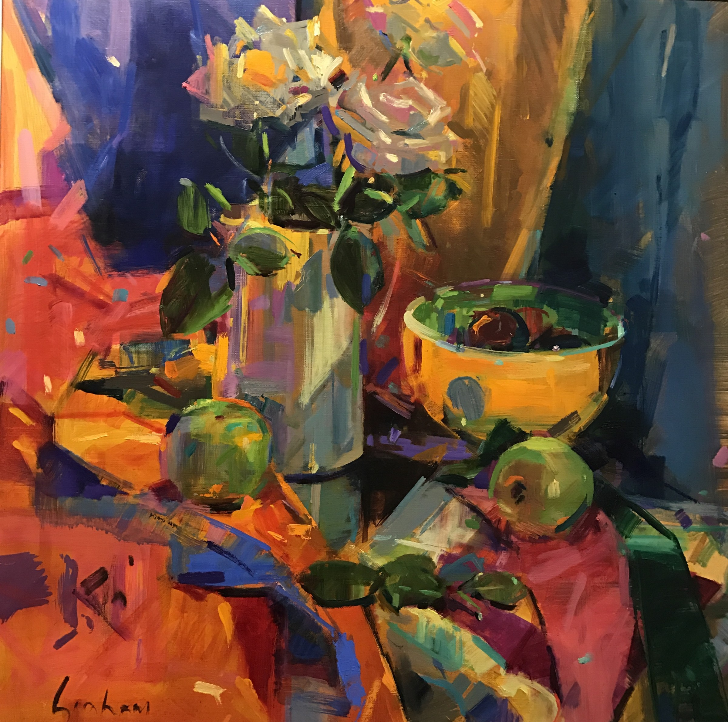 "<span class=""link fancybox-details-link""><a href=""/artists/31-peter-graham-roi/works/614-peter-graham-roi-notting-hill-roses/"">View Detail Page</a></span><div class=""artist""><strong>Peter Graham ROI</strong></div> <div class=""title""><em>Notting Hill Roses</em></div> <div class=""medium"">Oil on Canvas</div> <div class=""dimensions"">66 x 66 cm</div>"