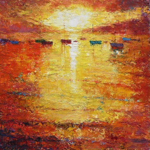 "<span class=""link fancybox-details-link""><a href=""/artists/49-stephen-bishop/works/2586-stephen-bishop-sunrise/"">View Detail Page</a></span><div class=""artist""><strong>Stephen Bishop</strong></div> <div class=""title""><em>Sunrise</em></div> <div class=""medium"">66 x 66 cm </div> <div class=""dimensions"">Oil on Canvas</div><div class=""price"">£2,000.00</div><div class=""copyright_line"">Copyright The Artist</div>"
