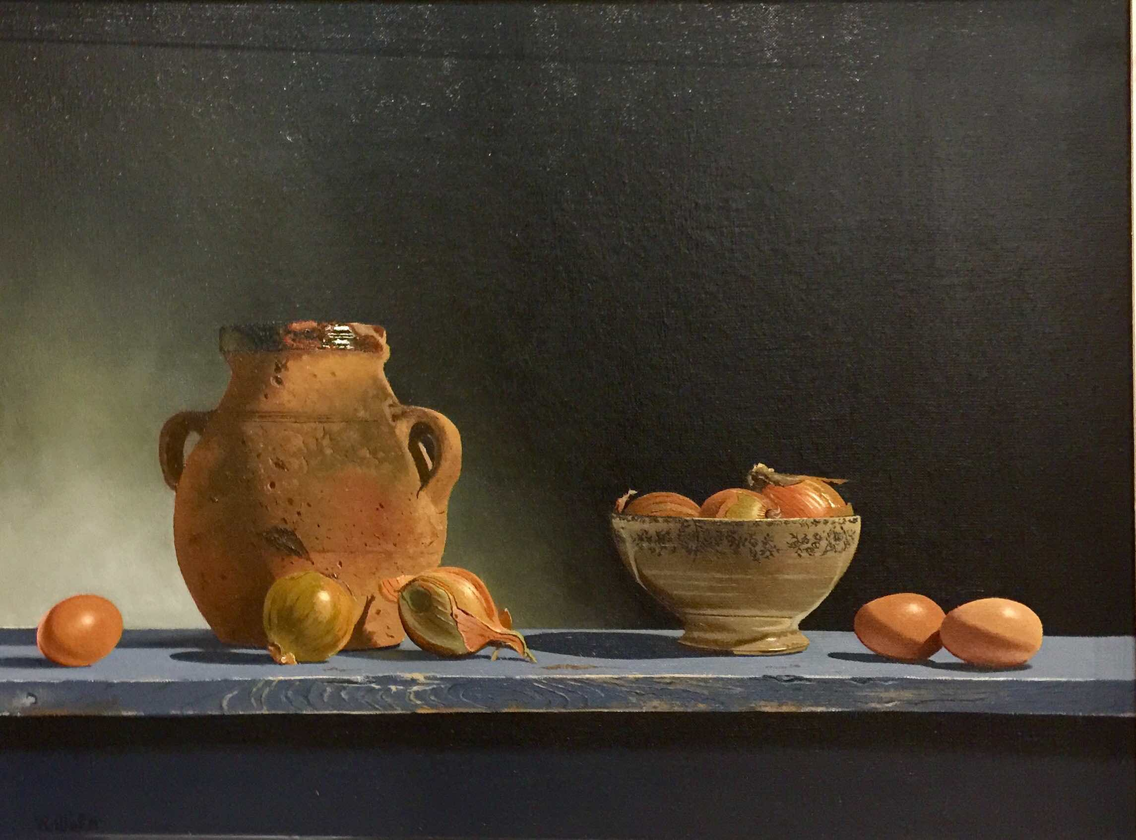 <span class=&#34;link fancybox-details-link&#34;><a href=&#34;/artists/67-robert-walker/works/2784-robert-walker-olive-pot-with-onions-and-eggs/&#34;>View Detail Page</a></span><div class=&#34;artist&#34;><strong>Robert Walker</strong></div> <div class=&#34;title&#34;><em>Olive Pot with Onions and Eggs</em></div> <div class=&#34;medium&#34;>Oil on Linen</div> <div class=&#34;dimensions&#34;>46 x 61 cm </div><div class=&#34;price&#34;>£1,650.00</div>