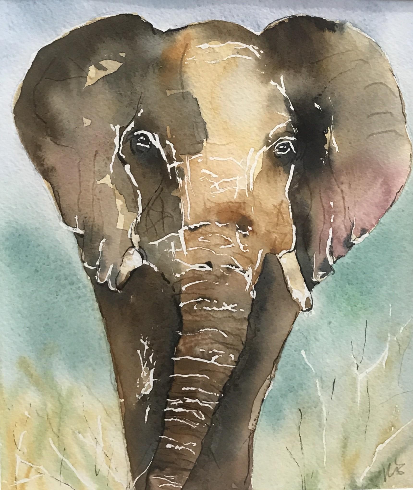 <span class=&#34;link fancybox-details-link&#34;><a href=&#34;/artists/33-kerry-edwards/works/79-kerry-edwards-elephant/&#34;>View Detail Page</a></span><div class=&#34;artist&#34;><strong>Kerry Edwards</strong></div> <div class=&#34;title&#34;><em>Elephant</em></div> <div class=&#34;medium&#34;>Watercolour (framed)</div> <div class=&#34;dimensions&#34;>22 x 19 cm</div><div class=&#34;price&#34;>£130.00</div>