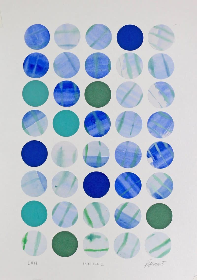 """<span class=""""link fancybox-details-link""""><a href=""""/artists/105-karen-stewart/works/6693-karen-stewart-painting-i-2018/"""">View Detail Page</a></span><div class=""""artist""""><strong>Karen Stewart</strong></div> <div class=""""title""""><em>Painting I</em>, 2018</div> <div class=""""medium"""">Paper Collage</div> <div class=""""dimensions"""">Unframed: 43x30cm<br /> Framed: </div>"""