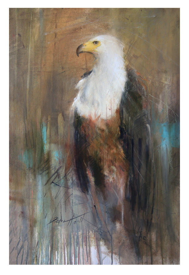 "<span class=""link fancybox-details-link""><a href=""/artists/60-peter-hall/works/5001-peter-hall-fish-eagle-2017/"">View Detail Page</a></span><div class=""artist""><strong>Peter Hall</strong></div> <div class=""title""><em>Fish Eagle</em>, 2017</div> <div class=""medium"">Mixed Media on Paper</div> <div class=""dimensions"">1000x700mm</div><div class=""copyright_line"">Copyright The Artist</div>"
