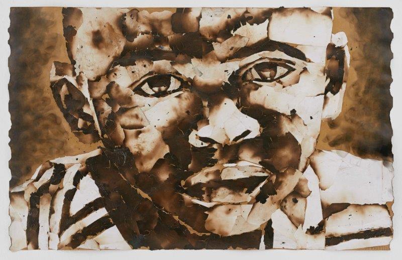 "<span class=""link fancybox-details-link""><a href=""/exhibitions/24/works/artworks1809/"">View Detail Page</a></span><div class=""artist""><strong>John Vusi Mfupi</strong></div> 1977-<div class=""title""><em>The Doors of Education on Fire</em>, 2016</div><div class=""medium"">burned paper collage</div><div class=""dimensions"">120x76cm</div>"