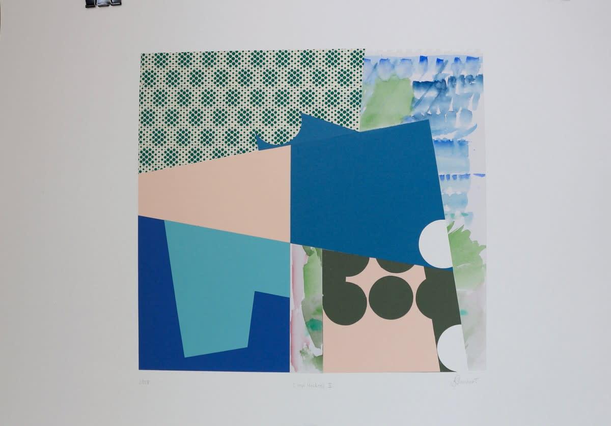 "<span class=""link fancybox-details-link""><a href=""/artists/105-karen-stewart/works/6681-karen-stewart-i-love-hockney-iii-2018/"">View Detail Page</a></span><div class=""artist""><strong>Karen Stewart</strong></div> <div class=""title""><em>I Love Hockney III</em>, 2018</div> <div class=""medium"">Watercolour, hand printed lokta sheet paper, Fine Art papers collage onto Amadeo 185gsm</div> <div class=""dimensions"">Unframed: 61cm x 86cm Framed: </div>"