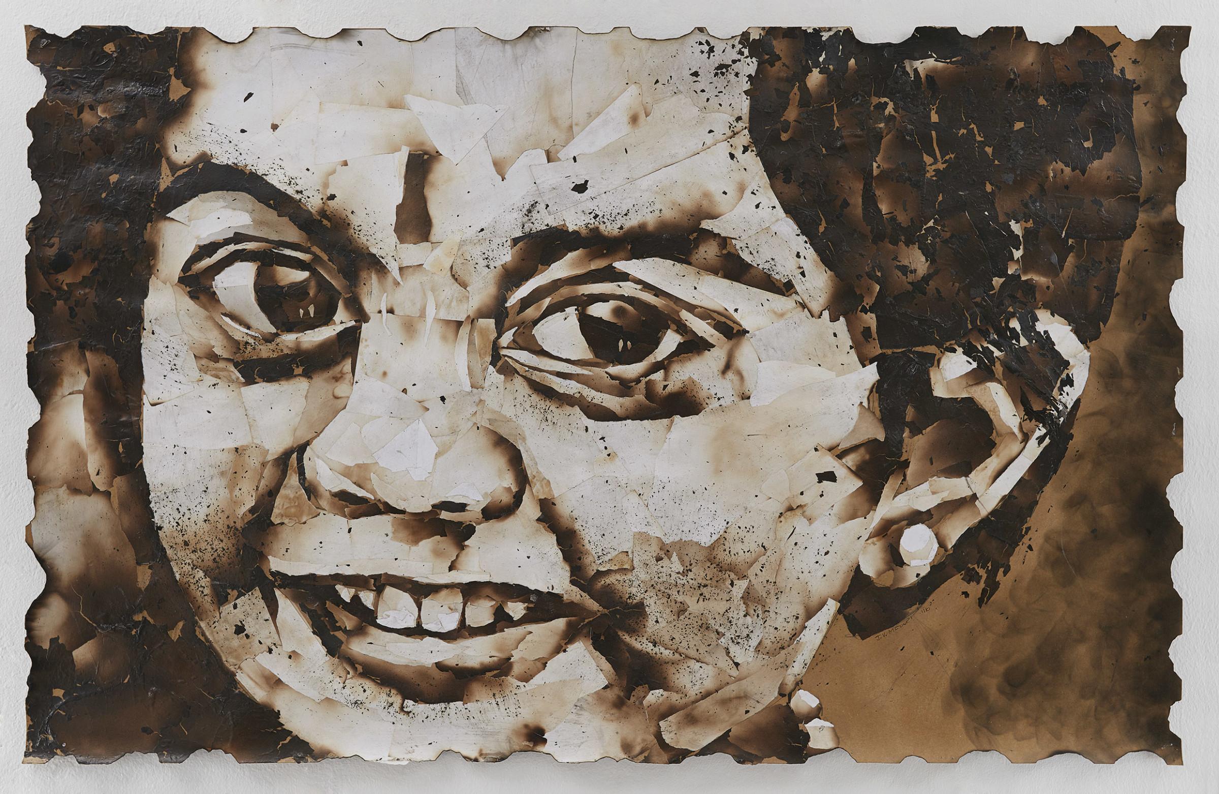 "<span class=""link fancybox-details-link""><a href=""/exhibitions/24/works/artworks2094/"">View Detail Page</a></span><div class=""artist""><strong>John Vusi Mfupi</strong></div> 1977-<div class=""title""><em>The Sun Shines Bright</em>, 2016</div><div class=""medium"">burned paper collage</div><div class=""dimensions"">120x76cm</div>"
