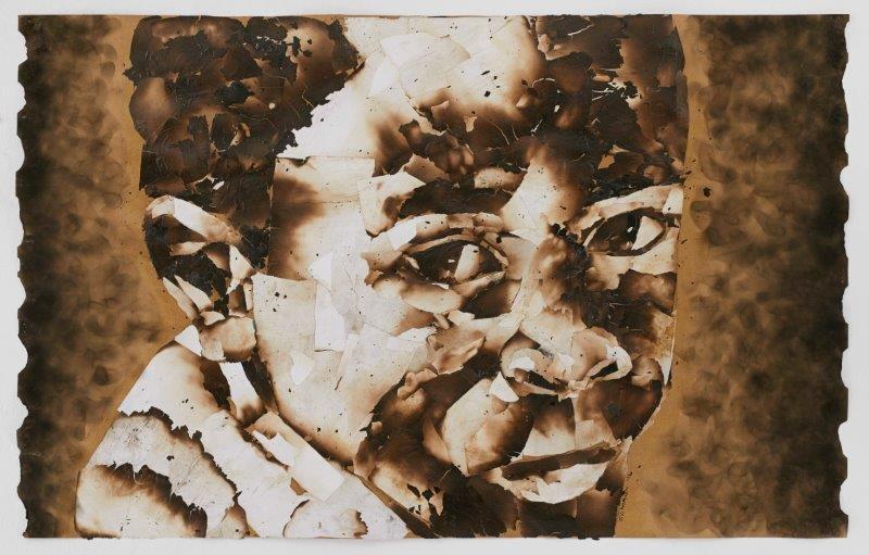 "<span class=""link fancybox-details-link""><a href=""/exhibitions/24/works/artworks1808/"">View Detail Page</a></span><div class=""artist""><strong>John Vusi Mfupi</strong></div> 1977-<div class=""title""><em>Can't Look Back</em>, 2016</div><div class=""medium"">burned paper collage</div><div class=""dimensions"">120x76cm</div>"