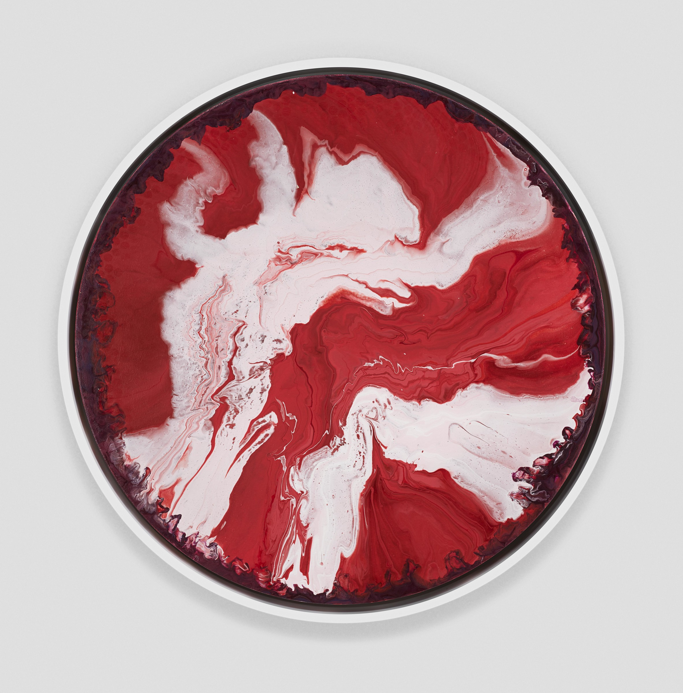 "<span class=""link fancybox-details-link""><a href=""/artists/66-elsa-duault/works/4939-elsa-duault-dancing-red-and-white-cells-2017/"">View Detail Page</a></span><div class=""artist""><strong>Elsa Duault</strong></div> 1992  <div class=""title""><em>Dancing red and white cells</em>, 2017</div> <div class=""medium"">Acrylic on canvas</div> <div class=""dimensions"">60cm diameter<br /> </div><div class=""copyright_line"">Copyright The Artist</div>"