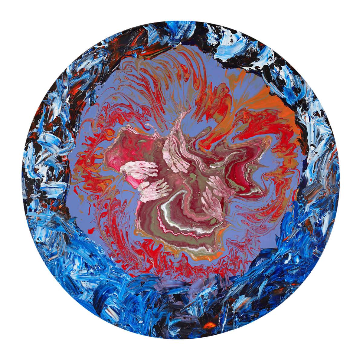 <span class=&#34;link fancybox-details-link&#34;><a href=&#34;/artists/66-elsa-duault/works/7207-elsa-duault-parallel-universe-1-2019/&#34;>View Detail Page</a></span><div class=&#34;artist&#34;><strong>Elsa Duault</strong></div> <div class=&#34;title&#34;><em>Parallel Universe 1</em>, 2019</div> <div class=&#34;medium&#34;>Acrylic on canvas</div> <div class=&#34;dimensions&#34;>120cm diameter</div>