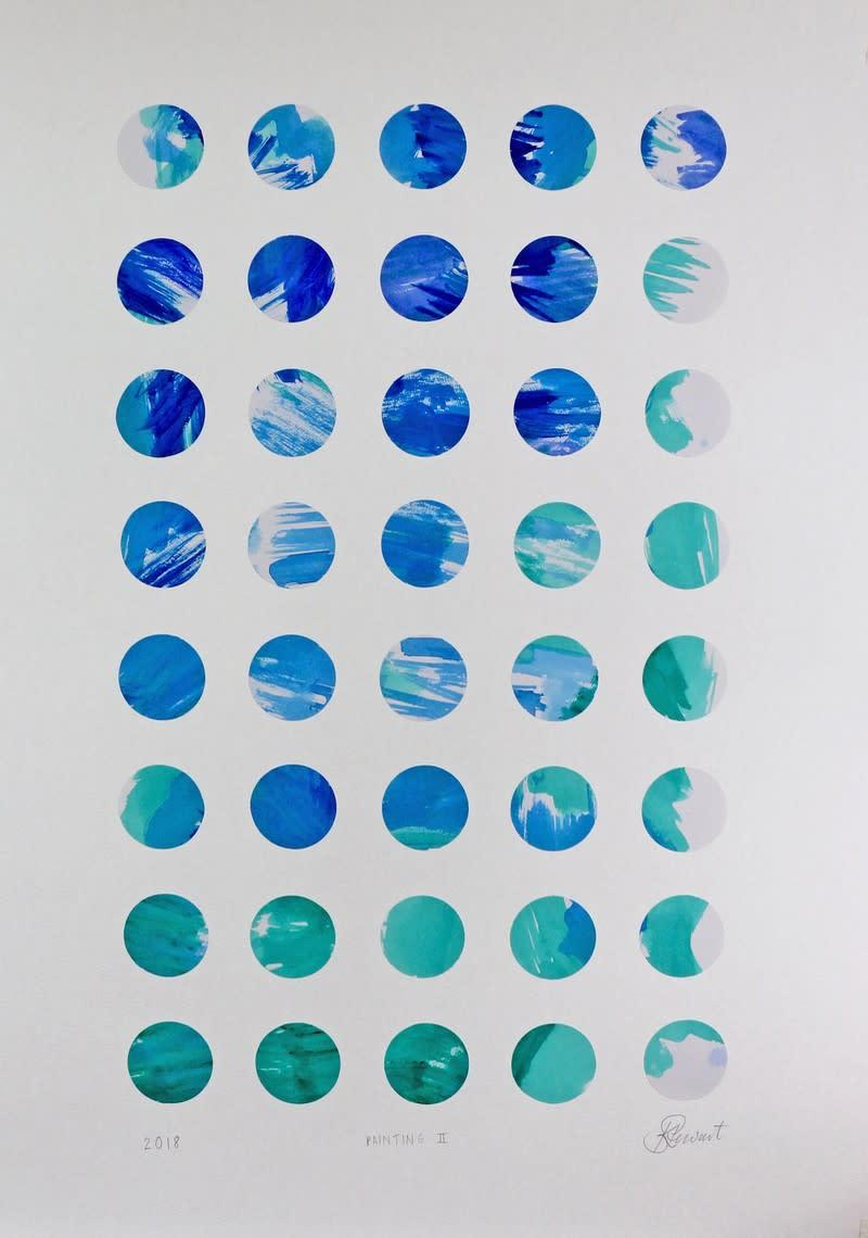 "<span class=""link fancybox-details-link""><a href=""/artists/105-karen-stewart/works/6692-karen-stewart-painting-ii-2018/"">View Detail Page</a></span><div class=""artist""><strong>Karen Stewart</strong></div> <div class=""title""><em>Painting II</em>, 2018</div> <div class=""medium"">Watercolour on paper collaged onto Amadeo 185gsm</div> <div class=""dimensions"">Unframed: 61x43cm<br /> Framed: </div>"