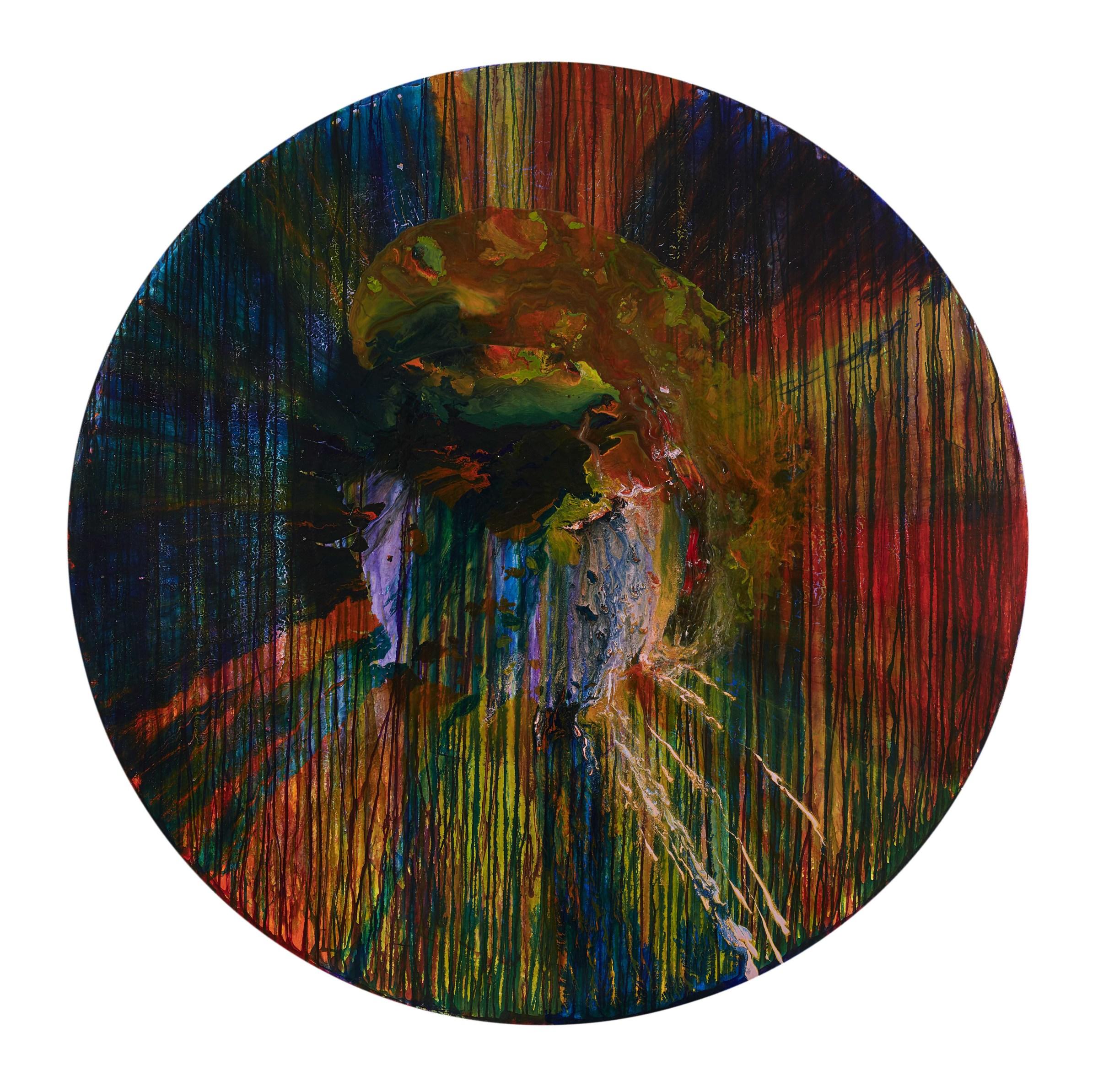 <span class=&#34;link fancybox-details-link&#34;><a href=&#34;/artists/66-elsa-duault/works/6719-elsa-duault-texture-and-time-2-2018/&#34;>View Detail Page</a></span><div class=&#34;artist&#34;><strong>Elsa Duault</strong></div> <div class=&#34;title&#34;><em>Texture and Time 2 </em>, 2018</div> <div class=&#34;medium&#34;>Ink and Transparent Coat on Canvas</div> <div class=&#34;dimensions&#34;>Unframed Diameter: 180cm</div>