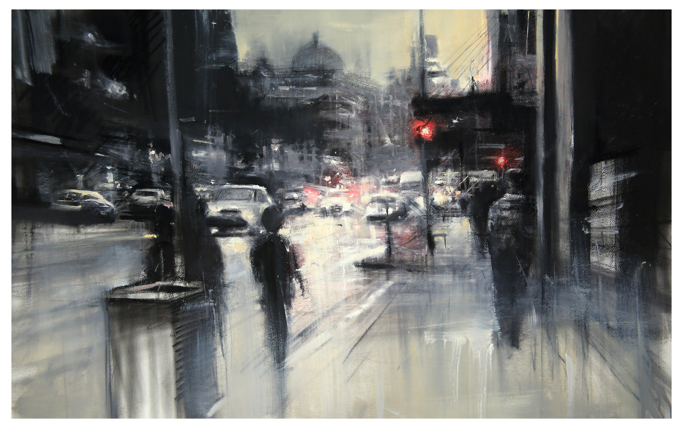 "<span class=""link fancybox-details-link""><a href=""/artists/60-peter-hall/works/7935-peter-hall-waiting-at-the-lights-2019/"">View Detail Page</a></span><div class=""artist""><strong>Peter Hall</strong></div> <div class=""title""><em>Waiting at the Lights</em>, 2019</div> <div class=""medium"">Mixedd media on paper</div> <div class=""dimensions"">90x150cm</div>"