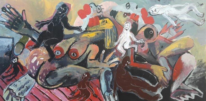 "<span class=""link fancybox-details-link""><a href=""/exhibitions/11/works/artworks571/"">View Detail Page</a></span><div class=""artist""><strong>John-Michael Metelerkamp</strong></div> 1982 -<div class=""title""><em>Keepers 1</em>, 2016</div><div class=""medium"">Acrylic on panel</div><div class=""dimensions"">1800x900mm</div>"