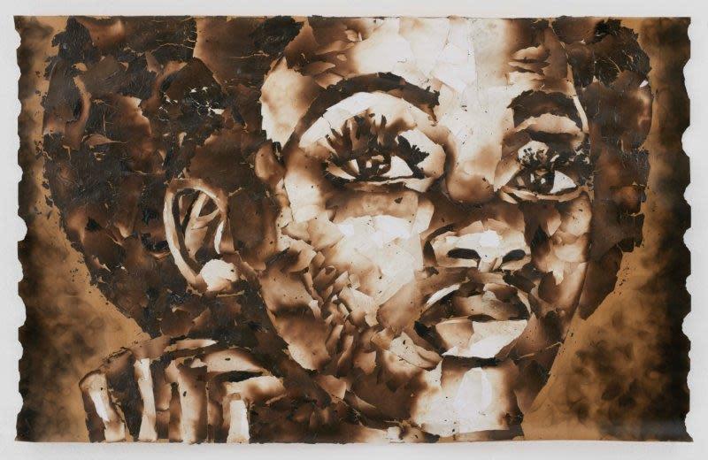 "<span class=""link fancybox-details-link""><a href=""/exhibitions/24/works/artworks2089/"">View Detail Page</a></span><div class=""artist""><strong>John Vusi Mfupi</strong></div> 1977-<div class=""title""><em>You Strike A Woman</em>, 2016</div><div class=""medium"">burned paper collage</div><div class=""dimensions"">120x76cm</div>"
