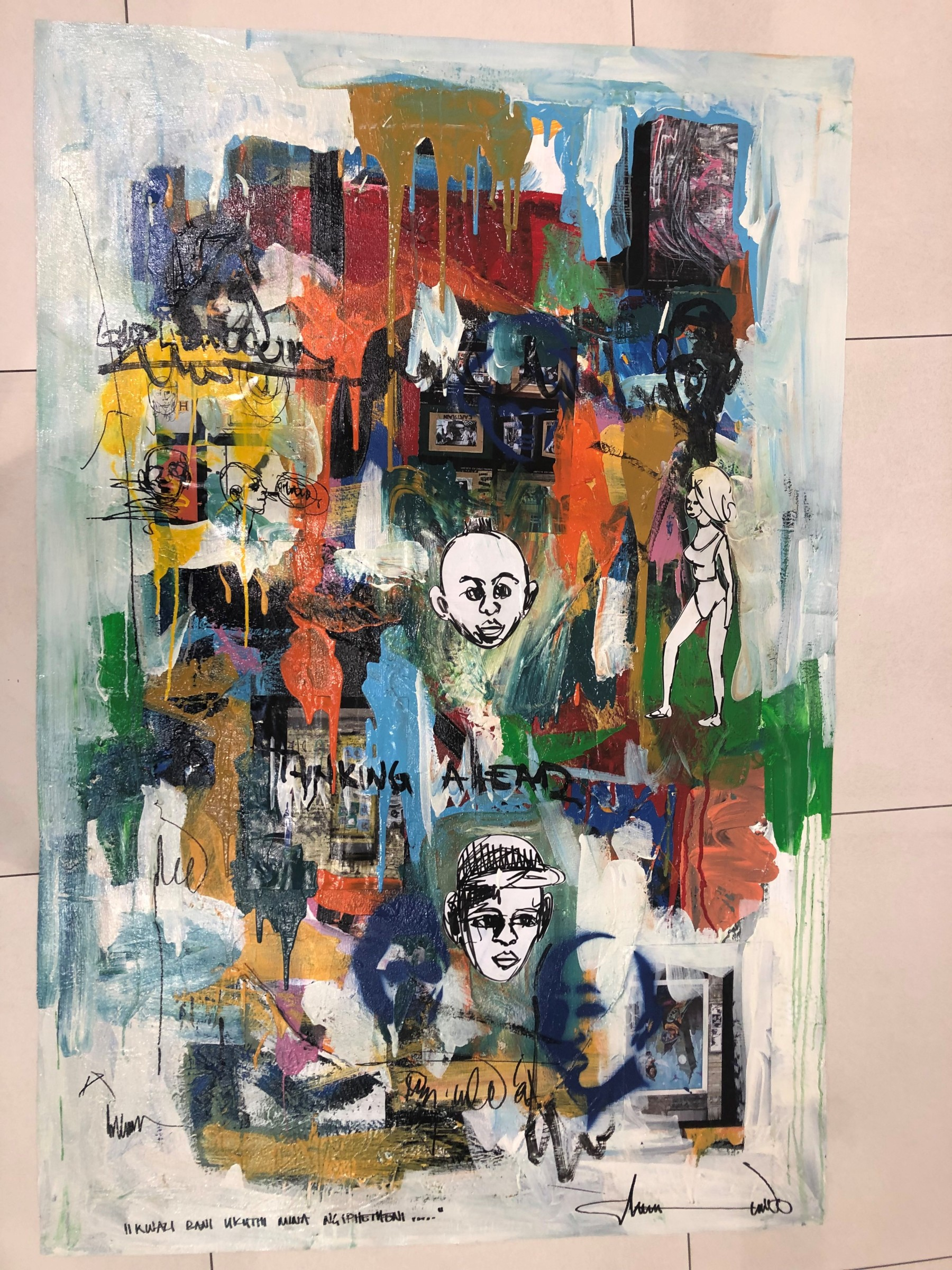 "<span class=""link fancybox-details-link""><a href=""/artists/83/series/other-works/7608-thando-ngwenya-kwazi-bani-ukuthi-mina-ngibhetheni-nobody-knows-what-2019/"">View Detail Page</a></span><div class=""artist""><strong>Thando Ngwenya</strong></div> <div class=""title""><em>Kwazi Bani Ukuthi Mina Ngibhetheni (Nobody Knows What I Have Inside)</em>, 2019</div> <div class=""medium"">Mixed Media on Canvas</div> <div class=""dimensions"">148 x 98.5 cm<br /> </div>"