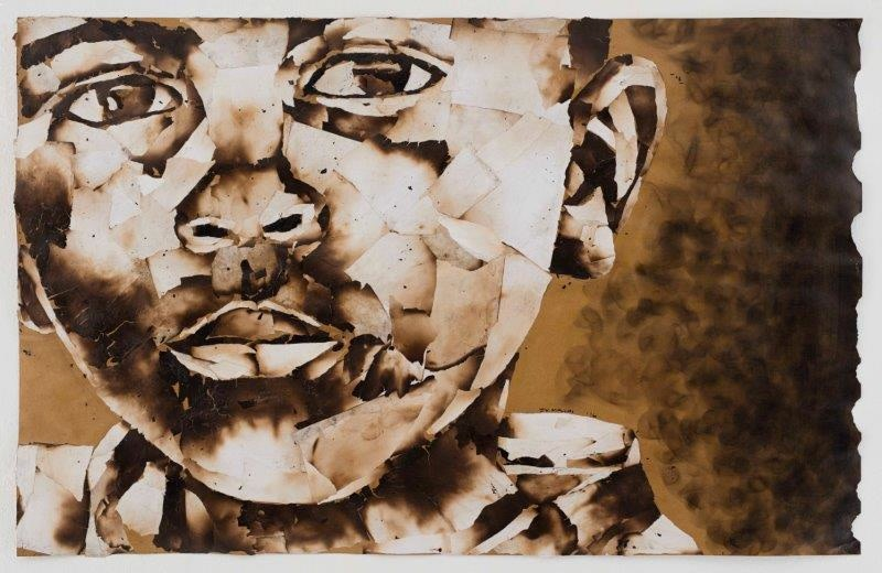 "<span class=""link fancybox-details-link""><a href=""/exhibitions/24/works/artworks1796/"">View Detail Page</a></span><div class=""artist""><strong>John Vusi Mfupi</strong></div> 1977-<div class=""title""><em>Picking Up the Pieces</em>, 2016</div><div class=""medium"">burned paper collage</div><div class=""dimensions"">120x76cm</div>"