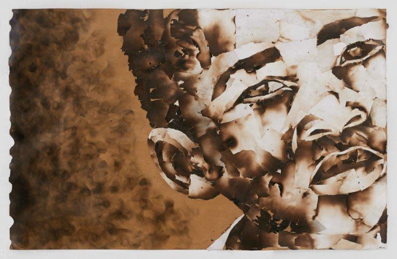 "<span class=""link fancybox-details-link""><a href=""/exhibitions/24/works/artworks2086/"">View Detail Page</a></span><div class=""artist""><strong>John Vusi Mfupi</strong></div> 1977-<div class=""title""><em>The Journey of My life</em>, 2016</div><div class=""medium"">burned paper collage</div><div class=""dimensions"">120x76cm</div>"