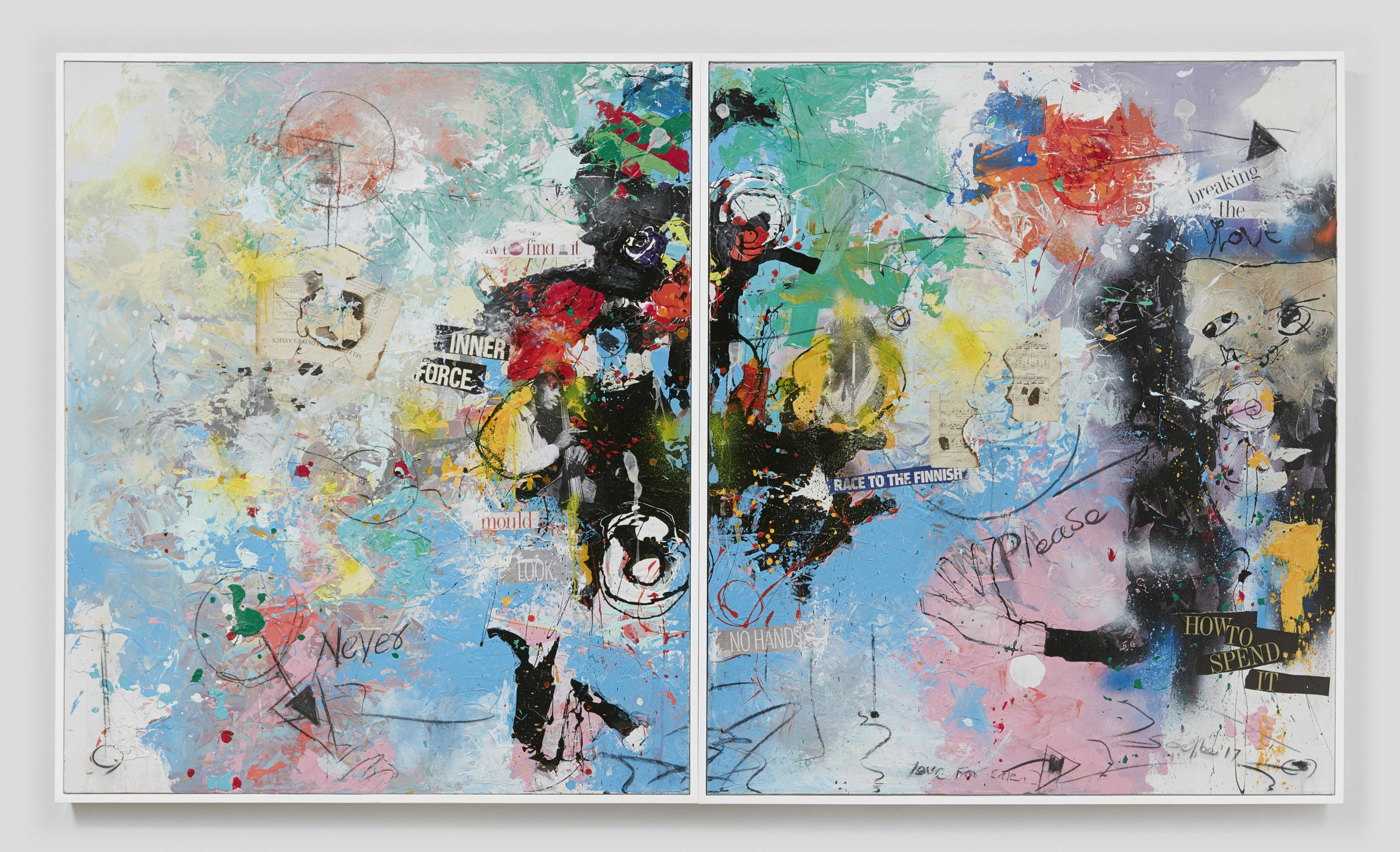 "<span class=""link fancybox-details-link""><a href=""/artists/34/series/diptychs/4262-daniel-stompie-selibe-please-2017/"">View Detail Page</a></span><div class=""artist""><strong>Daniel Stompie Selibe</strong></div> 1974- <div class=""title""><em>""Please"" </em>, 2017</div> <div class=""medium"">Mixed media on canvas</div> <div class=""dimensions"">Artwork  140x120cm Each<br />                140x240cm Diptych<br /> Framed:  143x123cm  Each<br />                 143x248cm  Diptych</div><div class=""copyright_line"">Copyright The Artist</div>"