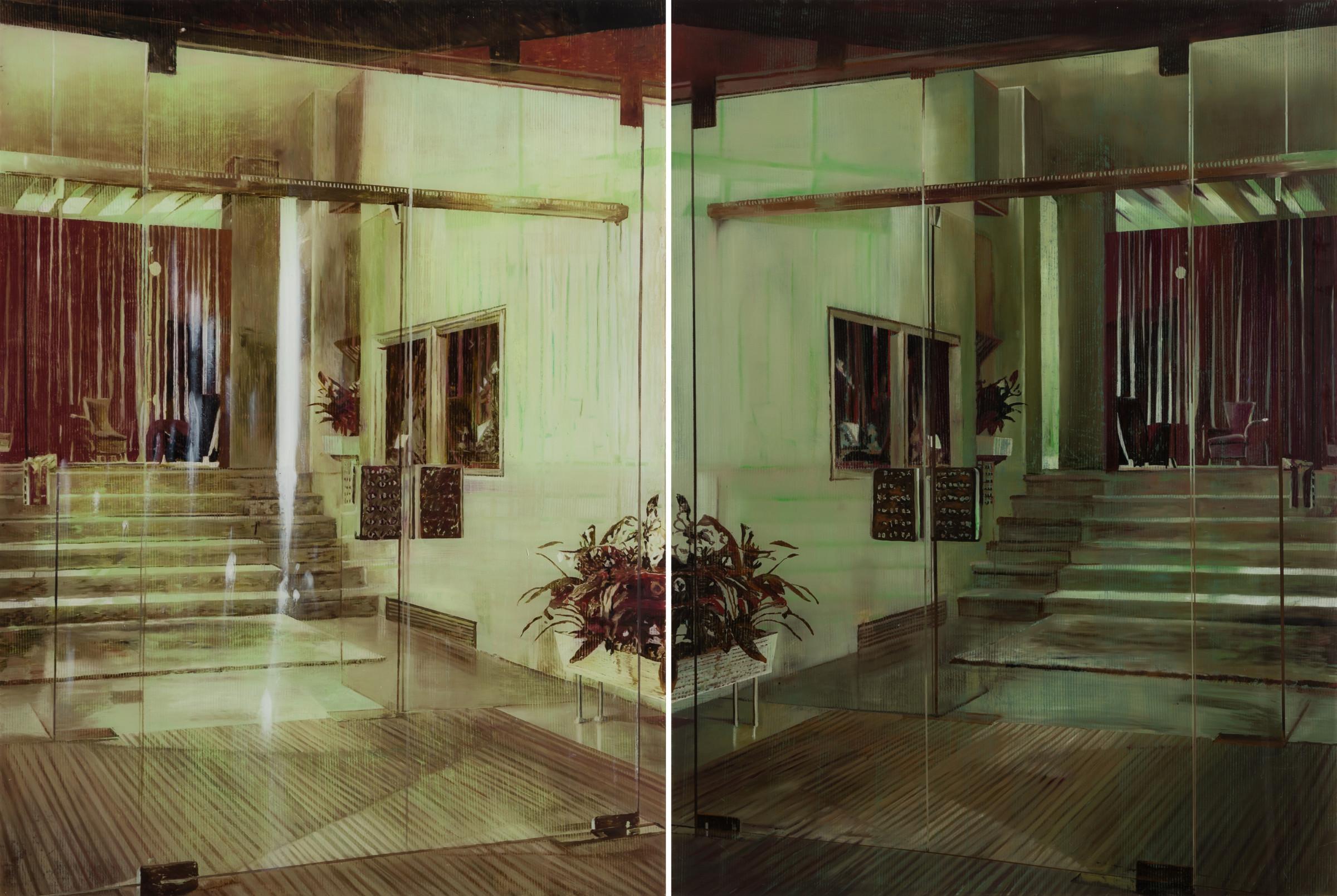 "<span class=""link fancybox-details-link""><a href=""/exhibitions/38/works/artworks128/"">View Detail Page</a></span><div class=""medium"">Oil on Plexiglas</div> <div class=""dimensions"">135 x 200 cm<br /> 53 1/8 x 78 3/4 in</div>"
