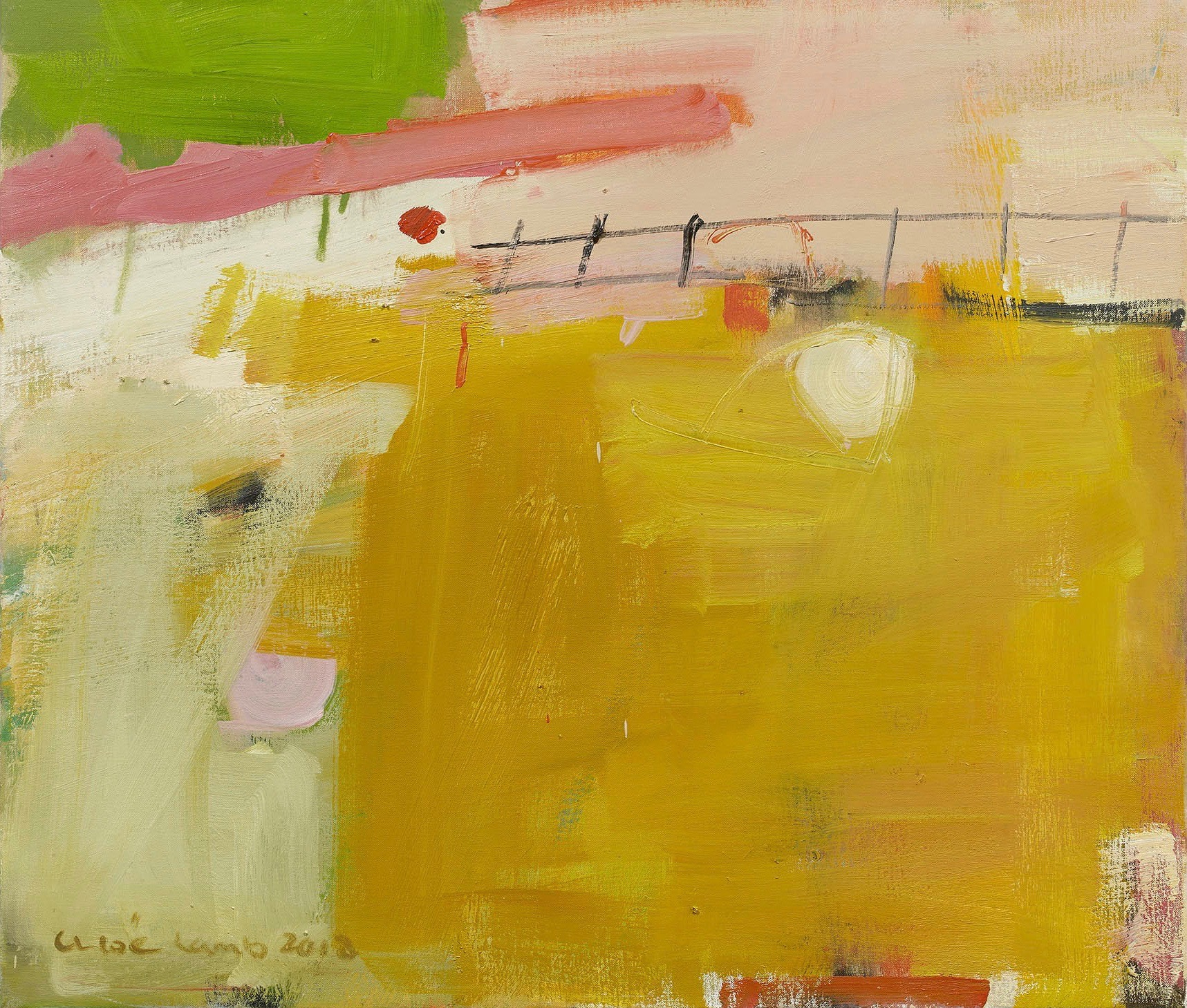 Chloe Lamb, Pink, Yellow and Green (Hungerford Gallery) | Cricket ...