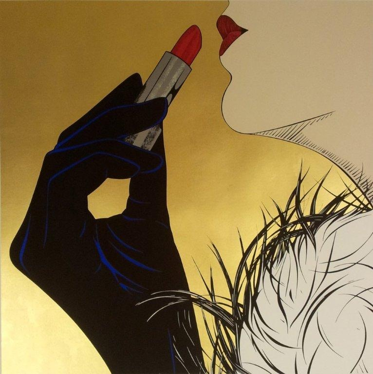 """<span class=""""link fancybox-details-link""""><a href=""""/exhibitions/43/works/artworks285/"""">View Detail Page</a></span><div class=""""artist""""><strong>Deborah Azzopardi</strong></div><div class=""""title""""><em>Pure Gold</em>, 2013</div><div class=""""medium"""">Real 24 carat gold leaf background, 410gsm Somerset Tub</div><div class=""""dimensions"""">86.4 x 86.4 cm<br>34 x 34 in.</div><div class=""""edition_details"""">Edition of 12</div>"""