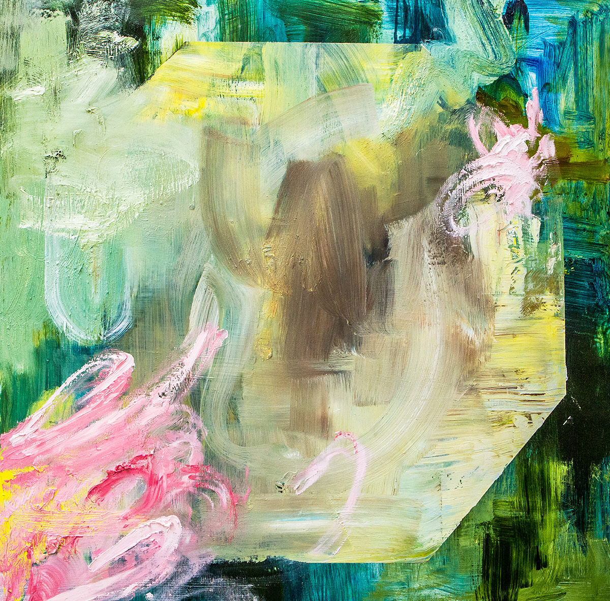 """<span class=""""link fancybox-details-link""""><a href=""""/artists/118-kate-dunn/works/2839/"""">View Detail Page</a></span><div class=""""artist""""><strong>Kate Dunn</strong></div> <div class=""""title""""><em>Mondegreen I</em>, 2018</div> <div class=""""medium"""">Acrylic Paint, Oil Paint and Marble Dust on Canvas</div> <div class=""""dimensions"""">90 x 90 cm<br /> 35 3/8 x 35 3/8 in.</div><div class=""""copyright_line"""">Copyright The Artist</div>"""