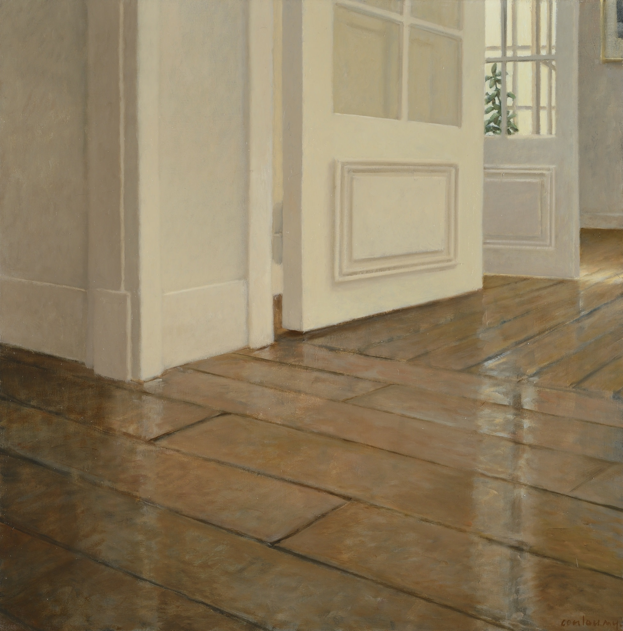 "<span class=""link fancybox-details-link""><a href=""/exhibitions/40/works/artworks86/"">View Detail Page</a></span><div class=""artist""><strong>Anne-Françoise Couloumy</strong></div><div class=""title""><em>Les Parquets Rue Daru 3</em>, 2014</div><div class=""medium"">Oil on Canvas</div><div class=""dimensions"">50 x 50 cm<br>19 3/4 x 19 3/4 in.</div>"