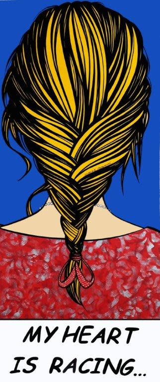 "<span class=""link fancybox-details-link""><a href=""/exhibitions/25/works/artworks1170/"">View Detail Page</a></span><div class=""artist""><strong>Deborah Azzopardi</strong></div><div class=""title""><em>Racing Heart</em>, 2017</div><div class=""medium"">Acrylic on Paper</div><div class=""dimensions"">69.5 x 25.5 cm (Image size)<br>27 3/8 x 10 1/8 in.  (Image size)</div>"