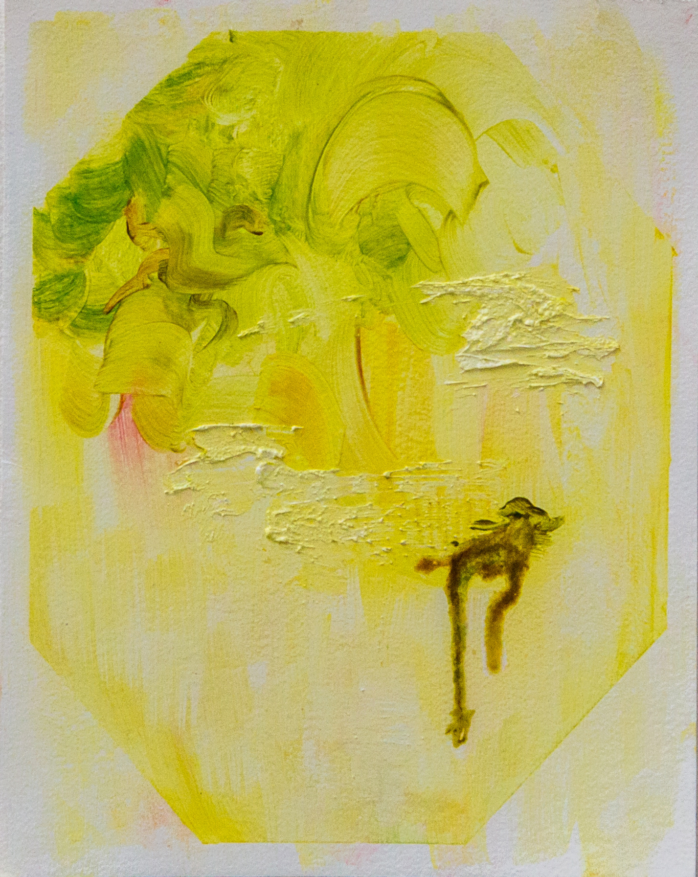 """<span class=""""link fancybox-details-link""""><a href=""""/artists/118-kate-dunn/works/2841/"""">View Detail Page</a></span><div class=""""artist""""><strong>Kate Dunn</strong></div> <div class=""""title"""">Untitled, 2018</div> <div class=""""medium"""">Acrylic Paint and Oil Paint on Paper</div> <div class=""""dimensions"""">37.2 x 31 cm<br /> 14 5/8 x 12 1/4 in.</div><div class=""""copyright_line"""">Copyright The Artist</div>"""