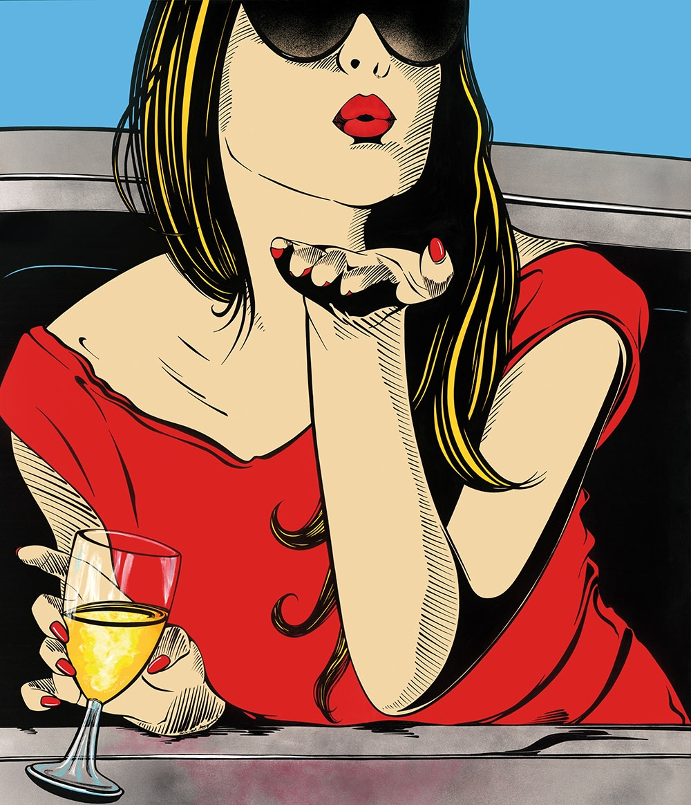 "<span class=""link fancybox-details-link""><a href=""/artists/26-deborah-azzopardi/works/12/"">View Detail Page</a></span><div class=""artist""><strong>Deborah Azzopardi</strong></div> <div class=""title""><em>The Great Escape</em>, 2015</div> <div class=""medium"">Limited Edition Silk-Screenprint with Platinum Leaf</div> <div class=""dimensions"">Framed:<br /> 124 x 110 cm<br /> 48 7/8 x 43 1/4 in.<br /> Unframed:<br /> 101.1 x 86.1 cm<br /> 39 3/4 x 33 7/8 in.</div> <div class=""edition_details"">Edition of 15</div><div class=""copyright_line"">Copyright The Artist</div>"