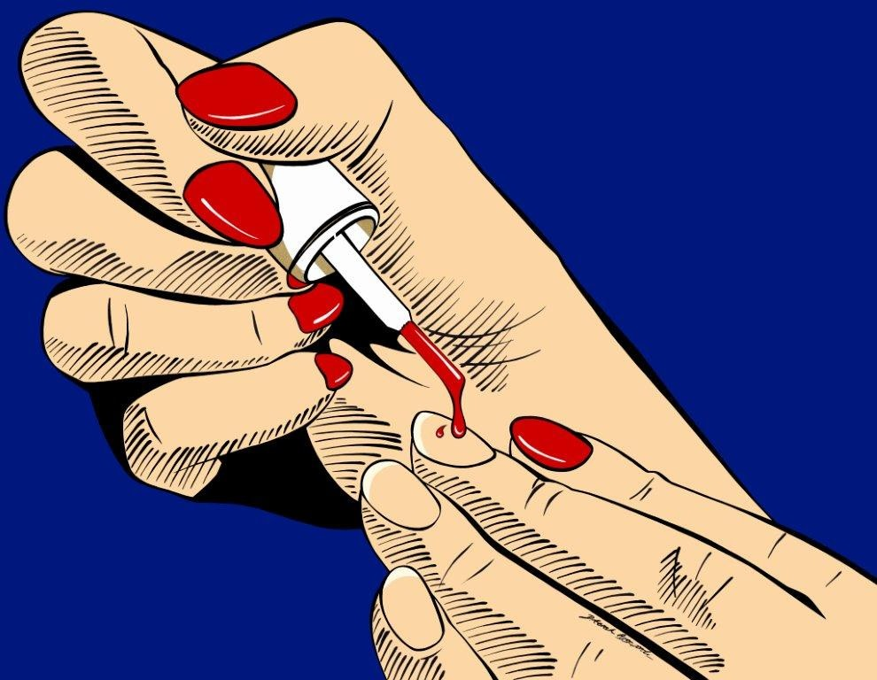 "<span class=""link fancybox-details-link""><a href=""/artists/26-deborah-azzopardi/works/433/"">View Detail Page</a></span><div class=""artist""><strong>Deborah Azzopardi</strong></div> <div class=""title""><em>Femme Fatale</em>, 2016</div> <div class=""medium"">Acrylic on 400g Arches Paper</div> <div class=""dimensions"">66 x 79 cm<br />26 x 31 1/8 in.</div><div class=""copyright_line"">Copyright The Artist</div>"