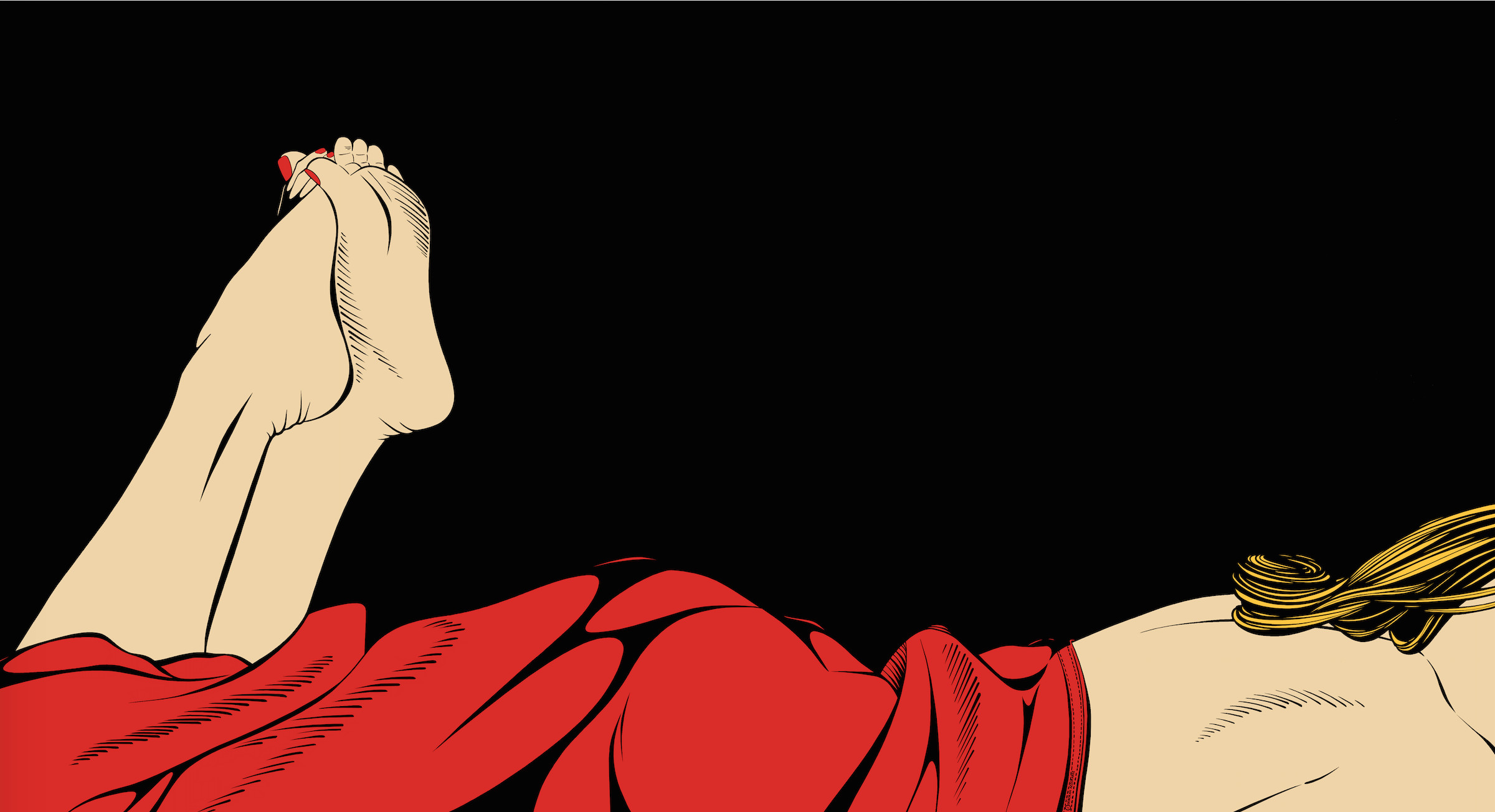 """<span class=""""link fancybox-details-link""""><a href=""""/exhibitions/47/works/artworks552/"""">View Detail Page</a></span><div class=""""artist""""><strong>Deborah Azzopardi</strong></div><div class=""""title""""><em>Relaxing</em>, 2007</div><div class=""""medium"""">Acrylic on Board</div><div class=""""dimensions"""">66 x 121.9 cm<br>26 x 48 in.</div>"""