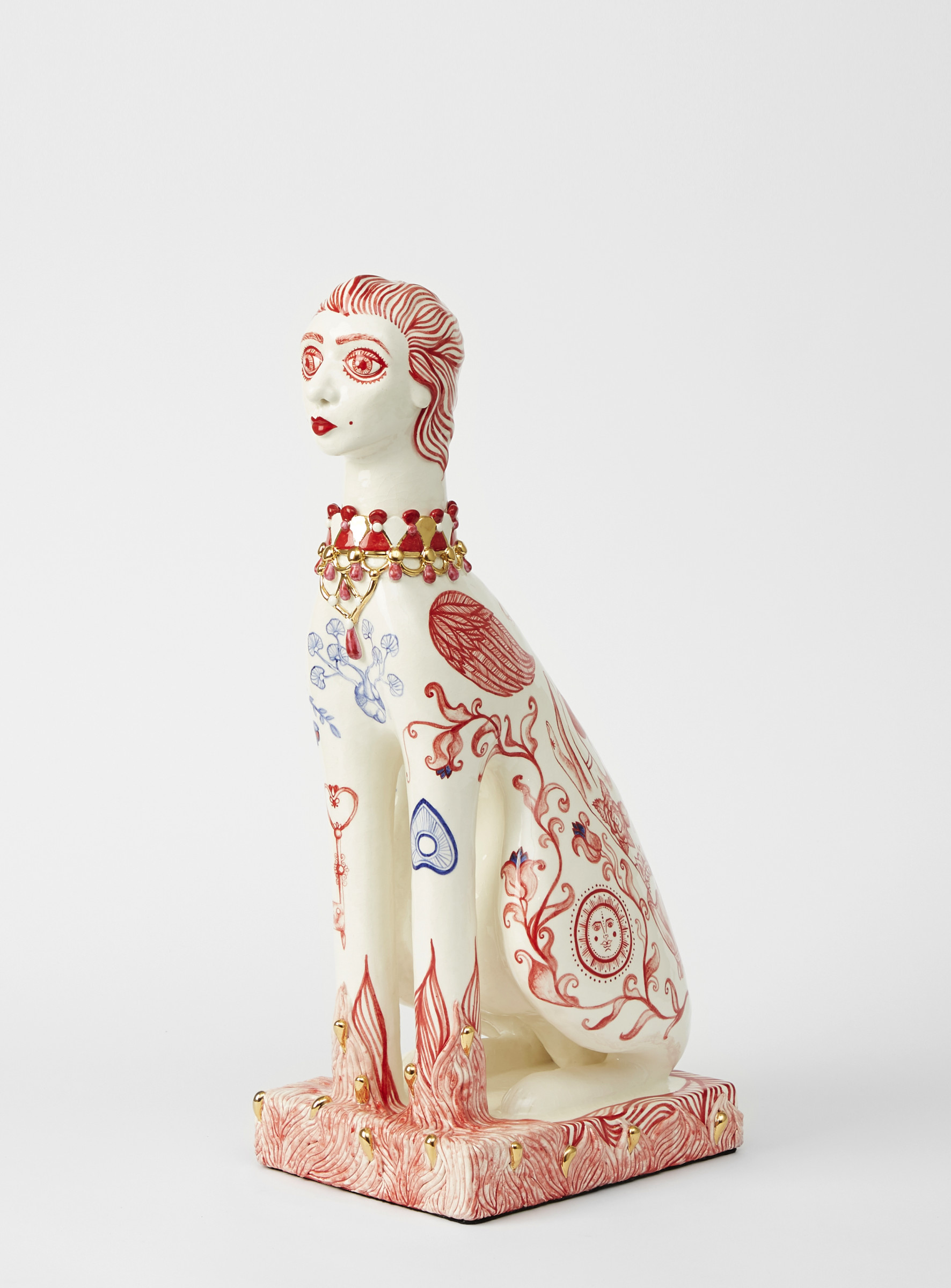 "<span class=""link fancybox-details-link""><a href=""/exhibitions/45/works/artworks3041/"">View Detail Page</a></span><div class=""artist""><strong>Anne Athena</strong></div><div class=""title""><em>Companion</em>, 2019</div><div class=""medium"">Hand Built and Hand Painted Ceramics</div><div class=""dimensions"">63 x 30 x 22 cm<br>24 3/4 x 11 3/4 x 8 5/8 in.</div>"