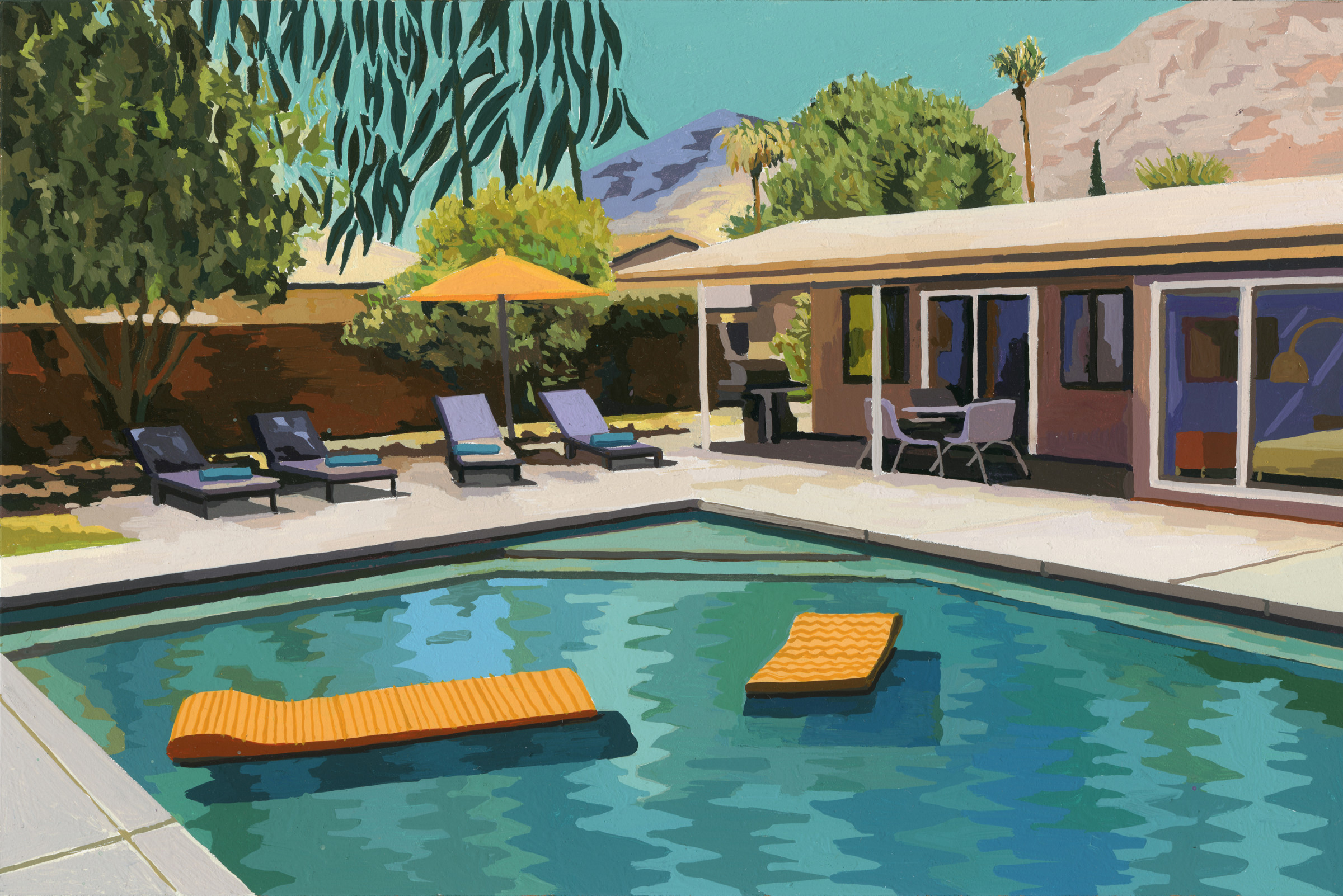 "<span class=""link fancybox-details-link""><a href=""/exhibitions/42/works/artworks3177/"">View Detail Page</a></span><div class=""artist""><strong>Andy Burgess</strong></div><div class=""title""><em>Palm Springs Pool</em>, 2019</div><div class=""medium"">Gouache on Panel</div><div class=""dimensions"">15.2 x 22.9 cm<br>6 x 9 in.</div>"