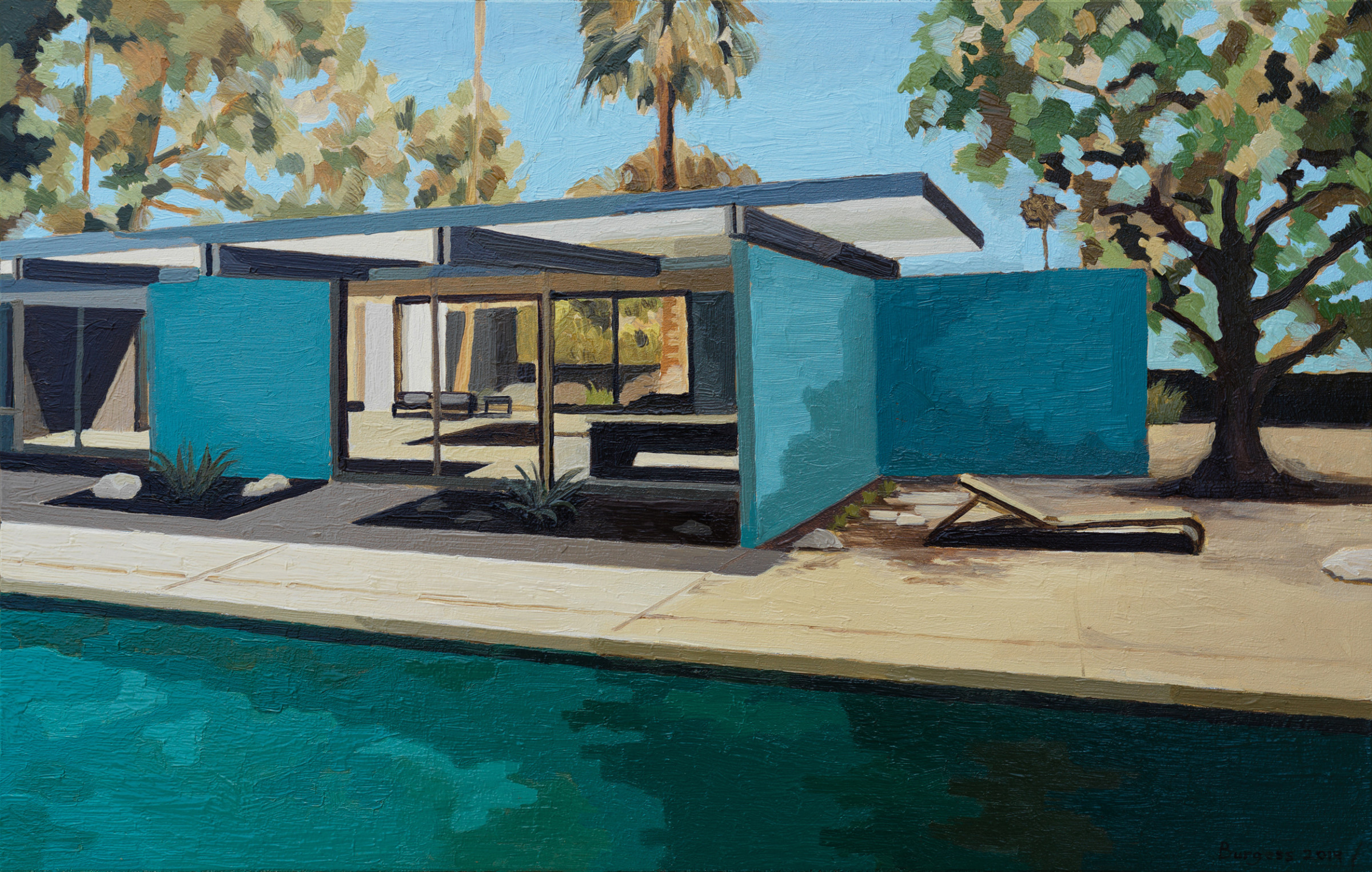 "<span class=""link fancybox-details-link""><a href=""/exhibitions/46/works/artworks2776/"">View Detail Page</a></span><div class=""artist""><strong>Andy Burgess</strong></div><div class=""title""><em>Wexler Family Home, Blue Walls</em>, 2019</div><div class=""signed_and_dated"">Signed, dated recto</div><div class=""medium"">Oil on Panel</div><div class=""dimensions"">17.8 x 27.9 cm<br>7 x 11 in.</div>"
