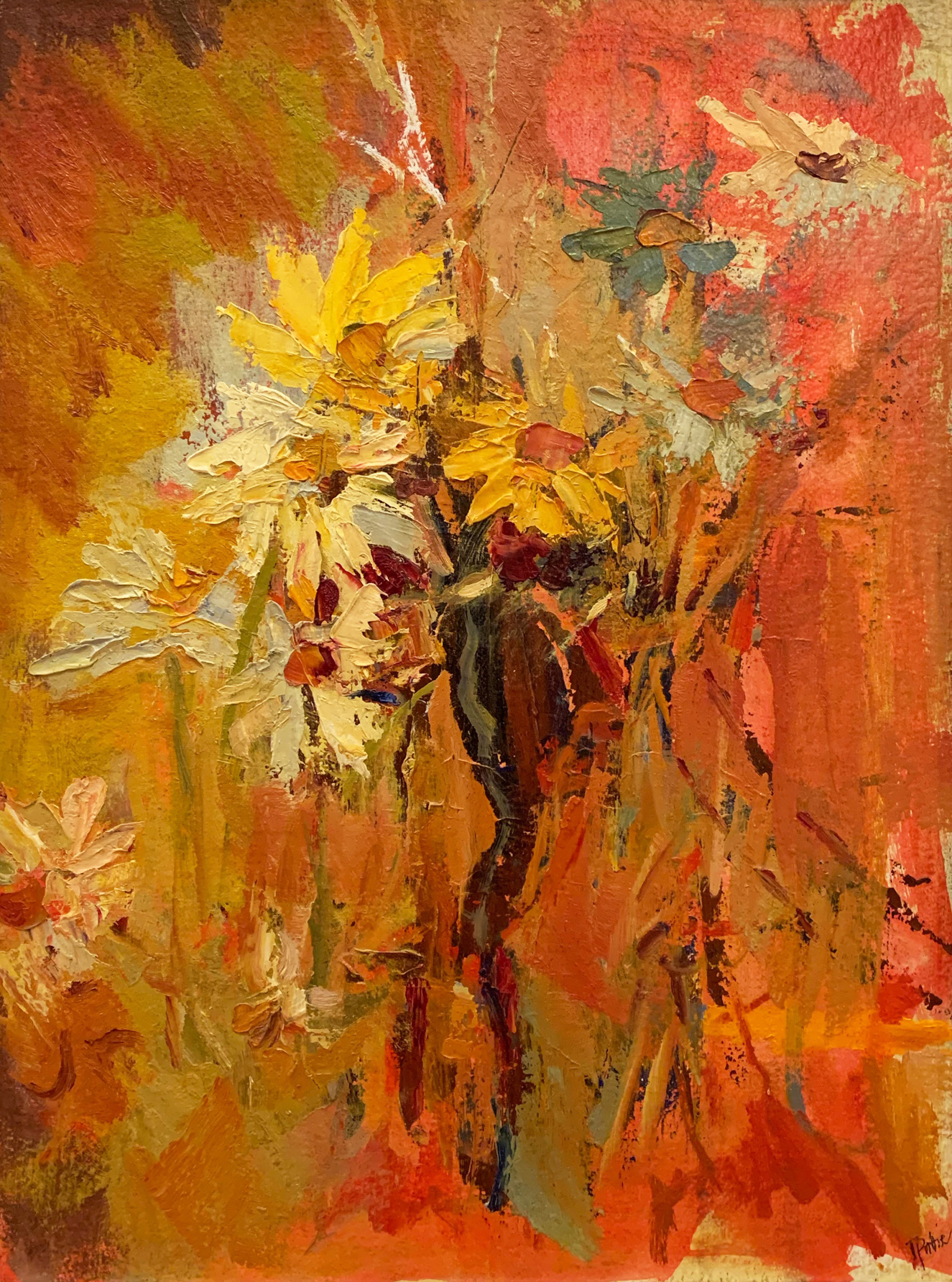 "<span class=""link fancybox-details-link""><a href=""/exhibitions/122/works/artworks3208/"">View Detail Page</a></span><div class=""artist""><strong>Tuëma Pattie</strong></div><div class=""title""><em>Summer Bouquet</em>, 2016</div><div class=""medium"">Oil on Khadi Paper</div><div class=""dimensions"">Framed:<br>88 x 67.5 cm<br>34 5/8 x 26 5/8 in.<br><br>Unframed:<br>75 x 55 cm<br>29 1/2 x 21 5/8 in.</div>"