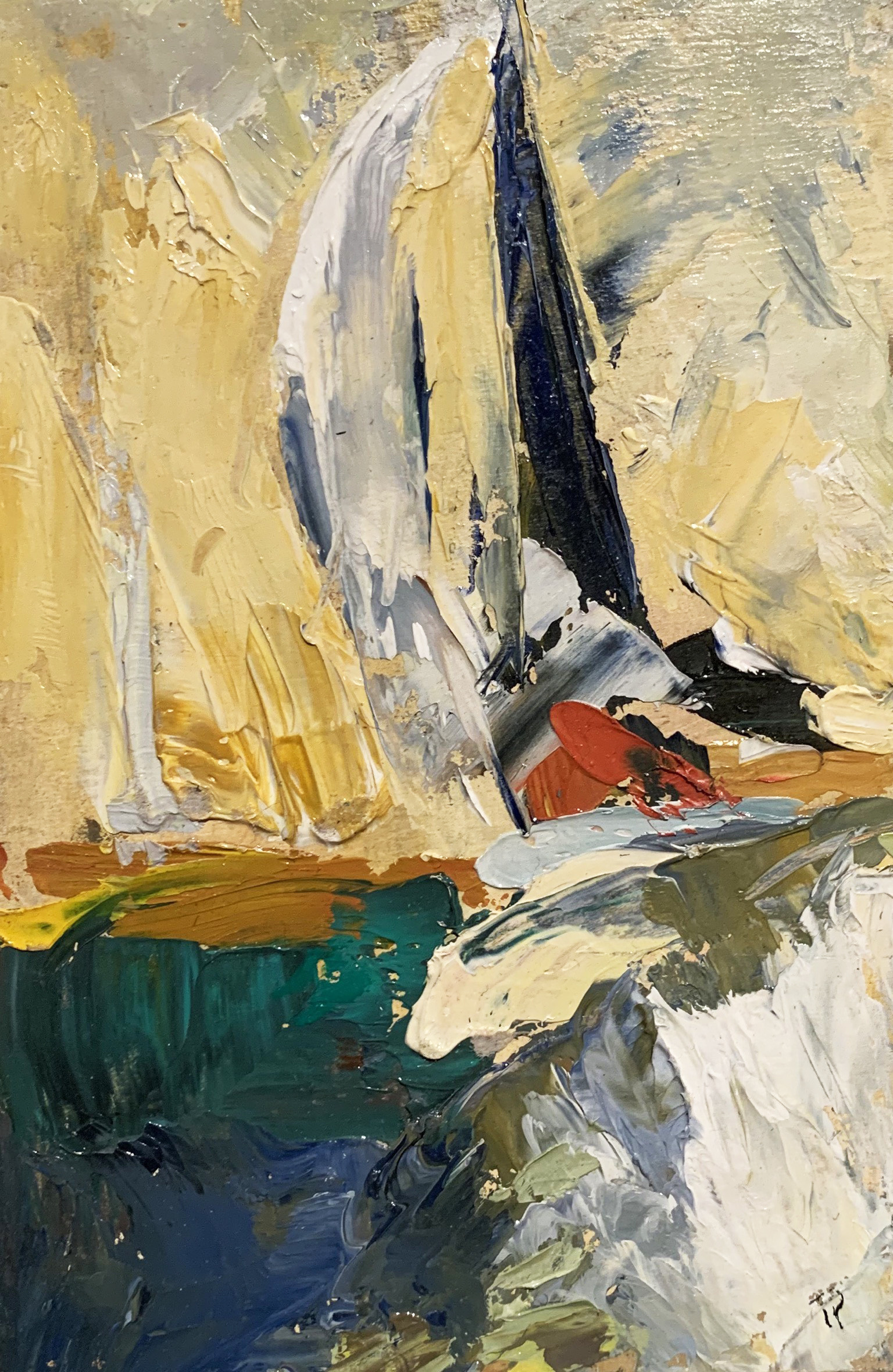 "<span class=""link fancybox-details-link""><a href=""/exhibitions/122/works/artworks3202/"">View Detail Page</a></span><div class=""artist""><strong>Tuëma Pattie</strong></div><div class=""title""><em>Yachts</em>, 2016</div><div class=""medium"">Oil on canvas</div><div class=""dimensions"">Framed:<br>28.5 x 22.5 cm<br>11 1/4 x 8 7/8 in.<br><br>Unframed:<br>19 x 12.5 cm<br>7 1/2 x 4 7/8 in.</div>"