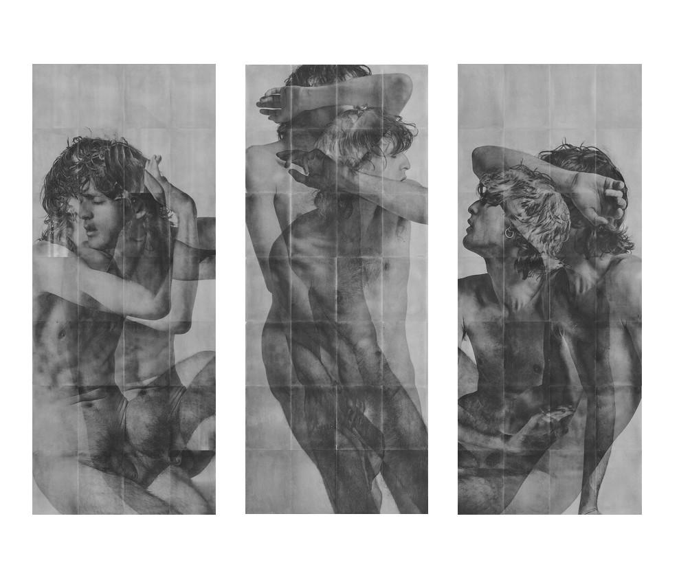 <span class=&#34;link fancybox-details-link&#34;><a href=&#34;/exhibitions/15/works/artworks557/&#34;>View Detail Page</a></span><div class=&#34;artist&#34;><strong>Rad Husak</strong></div><div class=&#34;title&#34;><em>Mirrored Decline [Triptych]</em>, 2018</div><div class=&#34;medium&#34;>Unique pigment transfer and carbon pencil on sandblasted aluminium</div><div class=&#34;dimensions&#34;>196 x 80 cm (each panel)</div><div class=&#34;edition_details&#34;>Edition of 3</div>