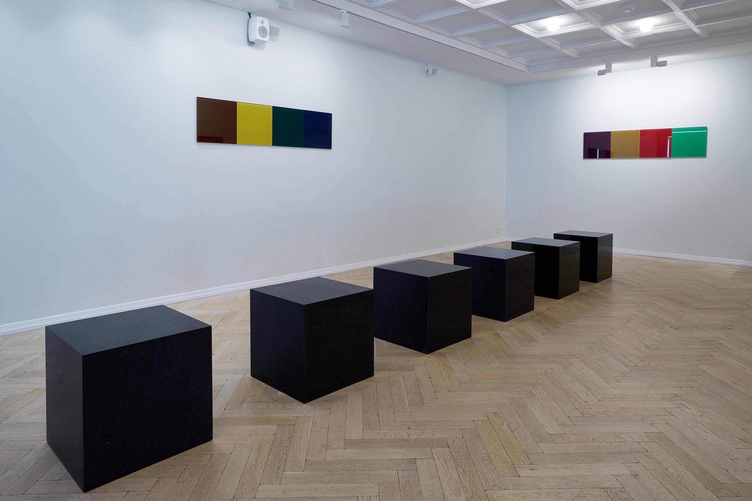 "<span class=""link fancybox-details-link""><a href=""/artists/43-or-vigfusson/works/14523/"">View Detail Page</a></span><div class=""artist""><strong>ÞÓR VIGFÚSSON</strong></div> <div class=""title""><em>Untitled </em>, 2005</div> <div class=""medium"">polished granite</div> <div class=""dimensions"">45 x 45 x 495 cm<br /> 6 cubes each 45 x 45 x 45 cm</div>"