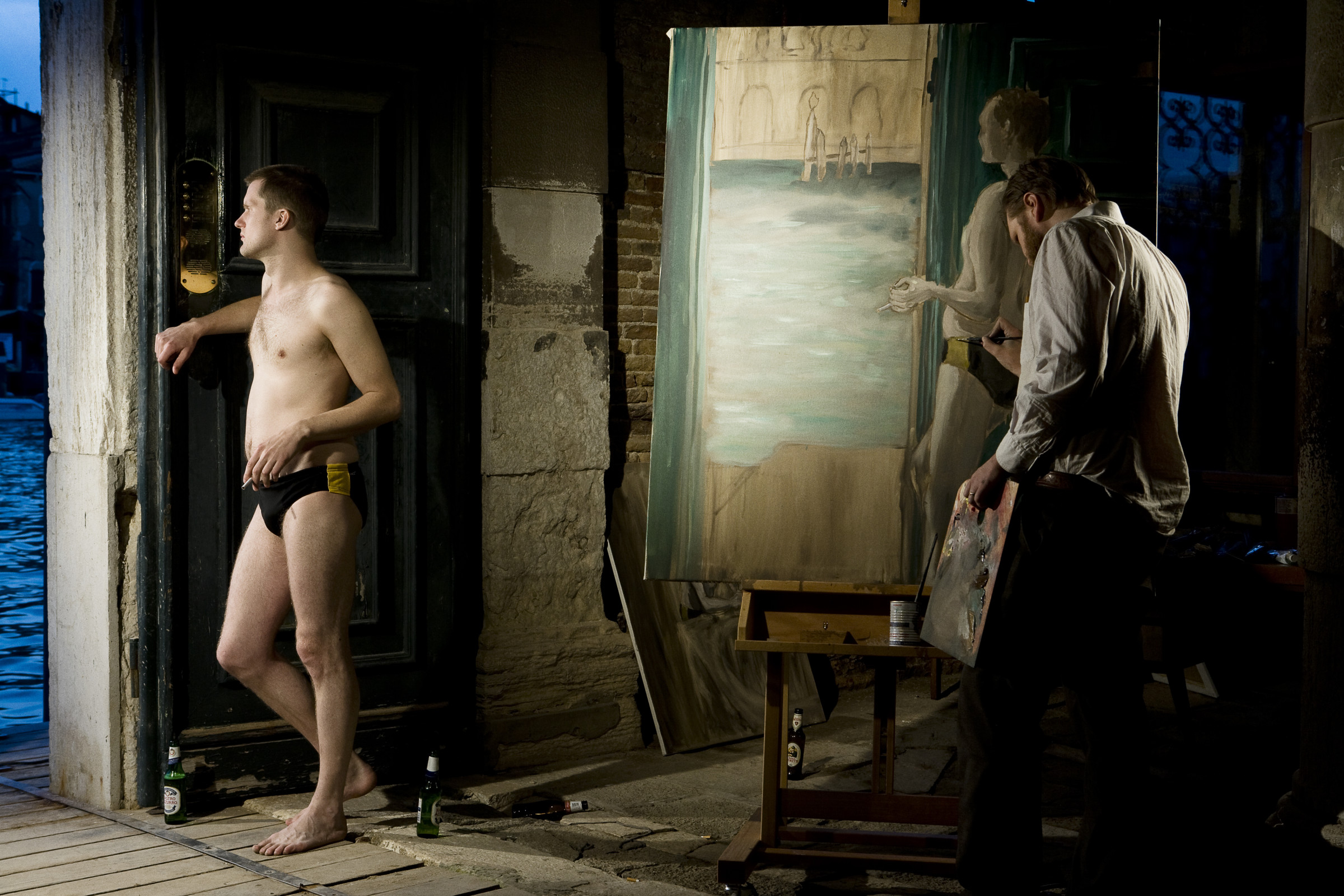 "<span class=""link fancybox-details-link""><a href=""/artists/35-ragnar-kjartansson/works/16052/"">View Detail Page</a></span><div class=""artist""><strong>RAGNAR KJARTANSSON</strong></div> <div class=""title""><em>The End – Venezia</em>, 2009</div> <div class=""medium"">performance</div> <div class=""dimensions"">Six-month performance during which 144 paintings were made. The Iceland Pavilion, Palazzo Michiel dal Brusà, 53rd Venice Biennale, 2009.<br /> 14 June to 22 November, daily for six hours</div><div class=""copyright_line"">Copyright The Artist</div>"